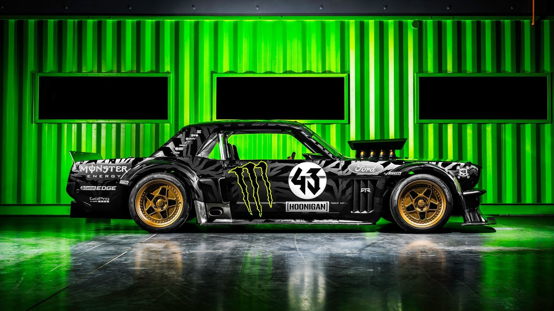 1920x1080 ford mustang rtr 1965 hoonicorn 845 hp gymkhana seven side ken block  monster energy