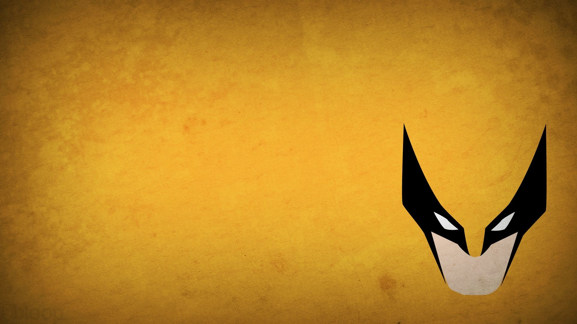 1920x1080 minimalistic X-Men Wolverine superheroes Marvel Comics yellow background -  Wallpaper ( / Wallbase.
