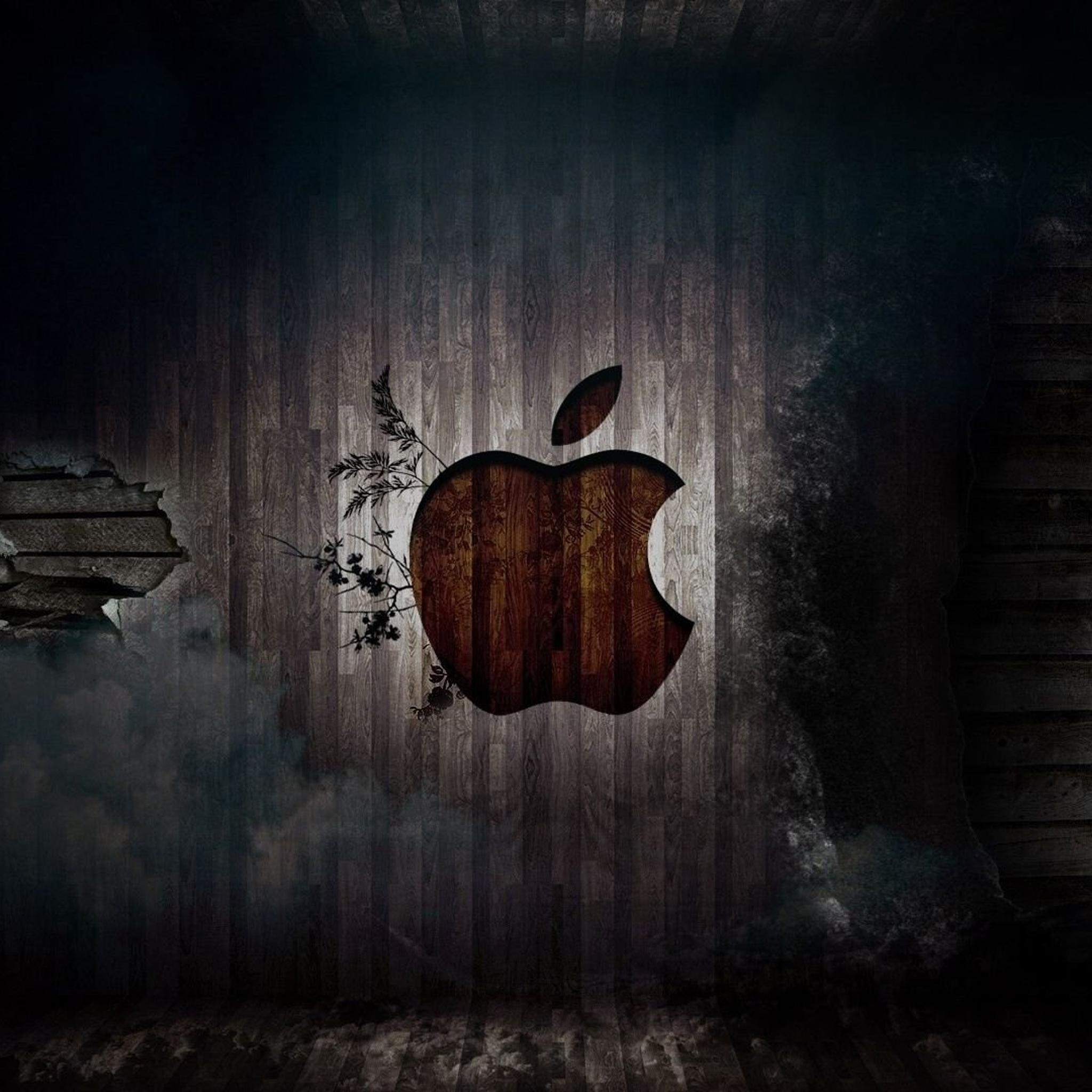 2048x2048 IPad Retina HD Wallpaper Apple In Wood