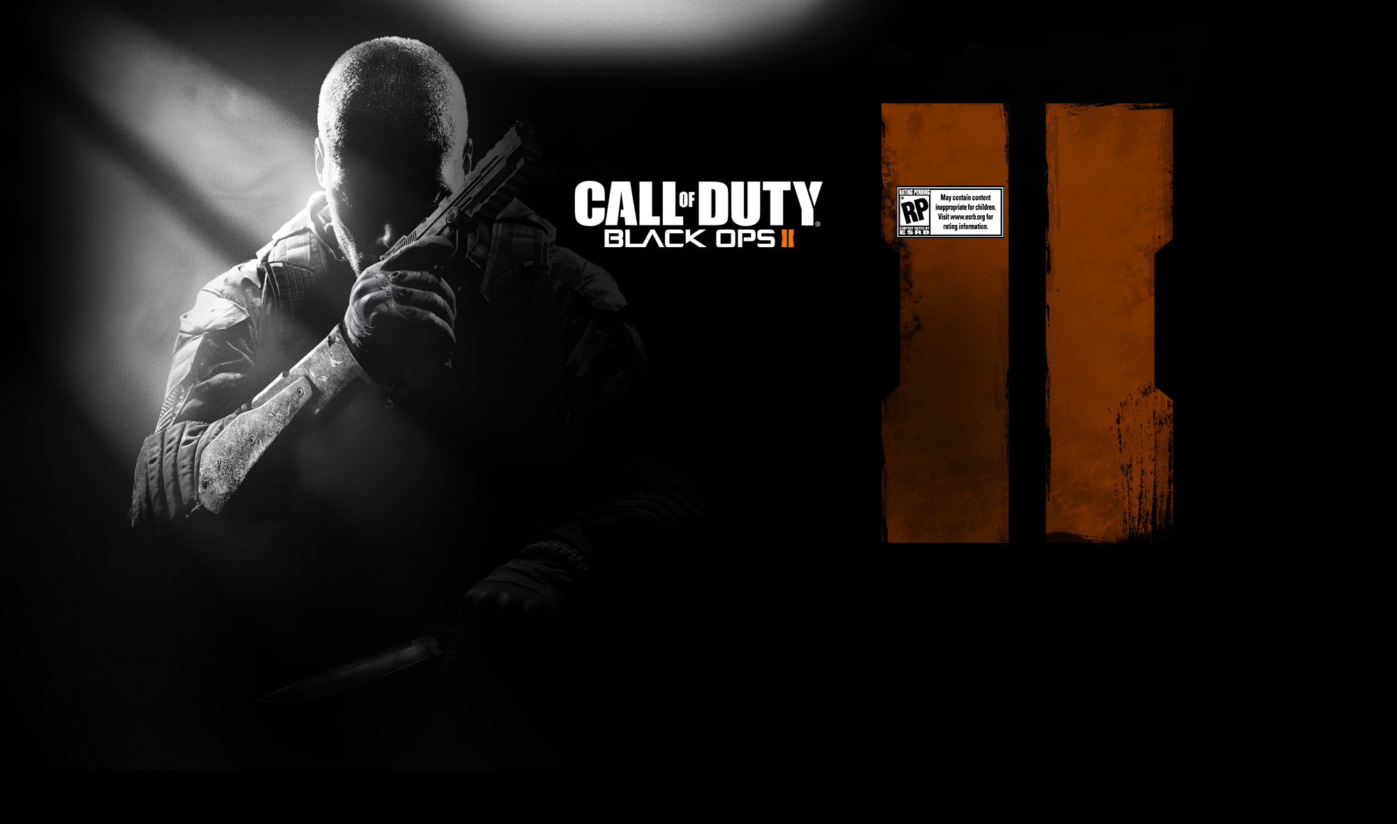 2000x1180 Call of Duty Black Ops 2 Dark Logo Wallpapers
