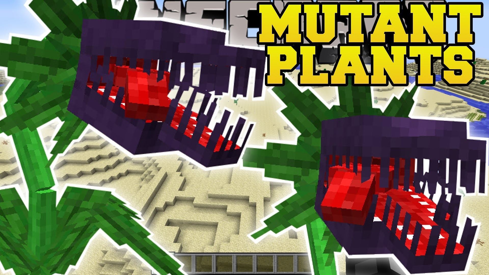 1920x1080 PAT & JEN Minecraft: MUTANT PLANTS MOD (EVIL PLANTS THAT EAT EVERYTHING!