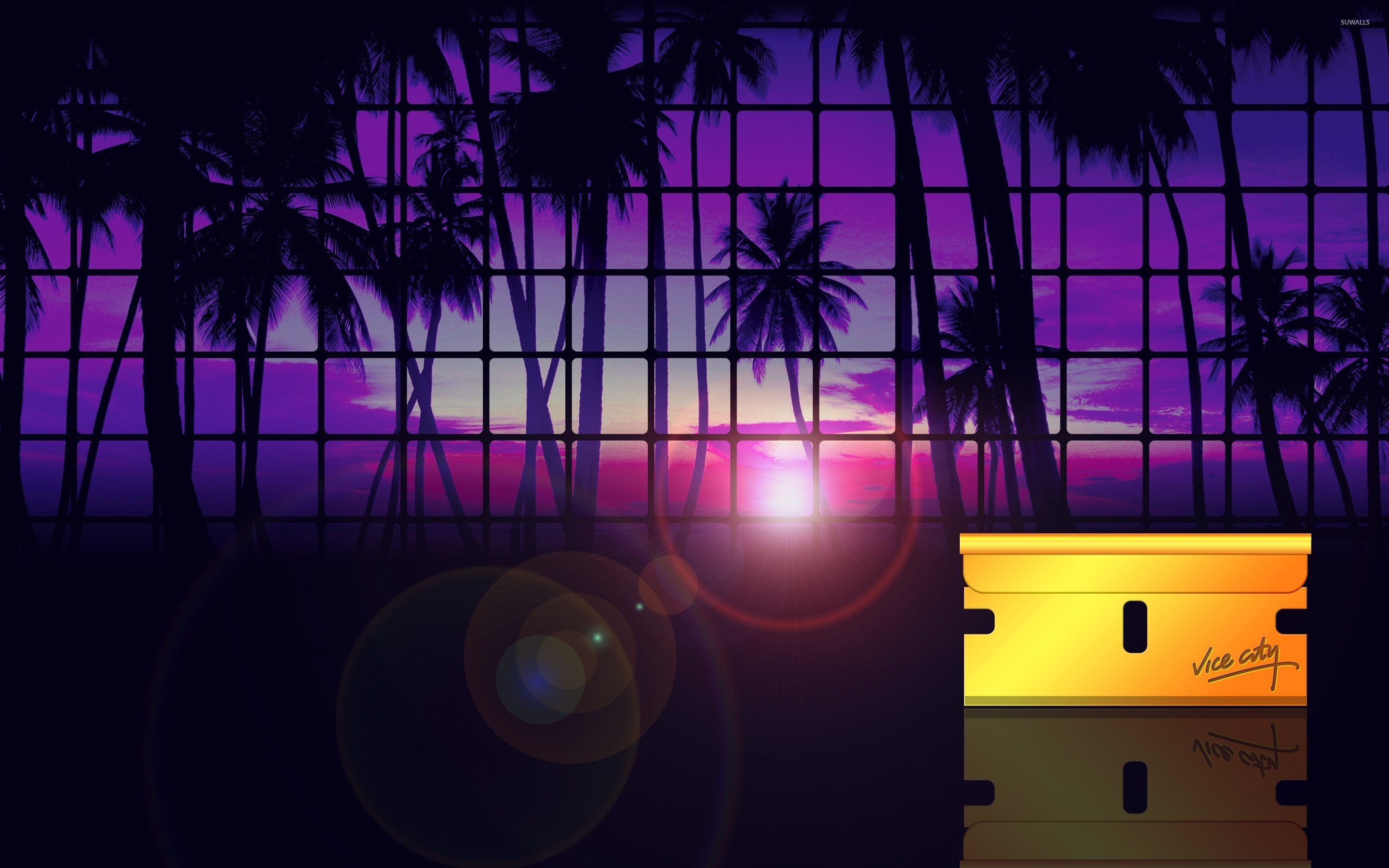 2880x1800 Grand Theft Auto: Vice City sunset wallpaper