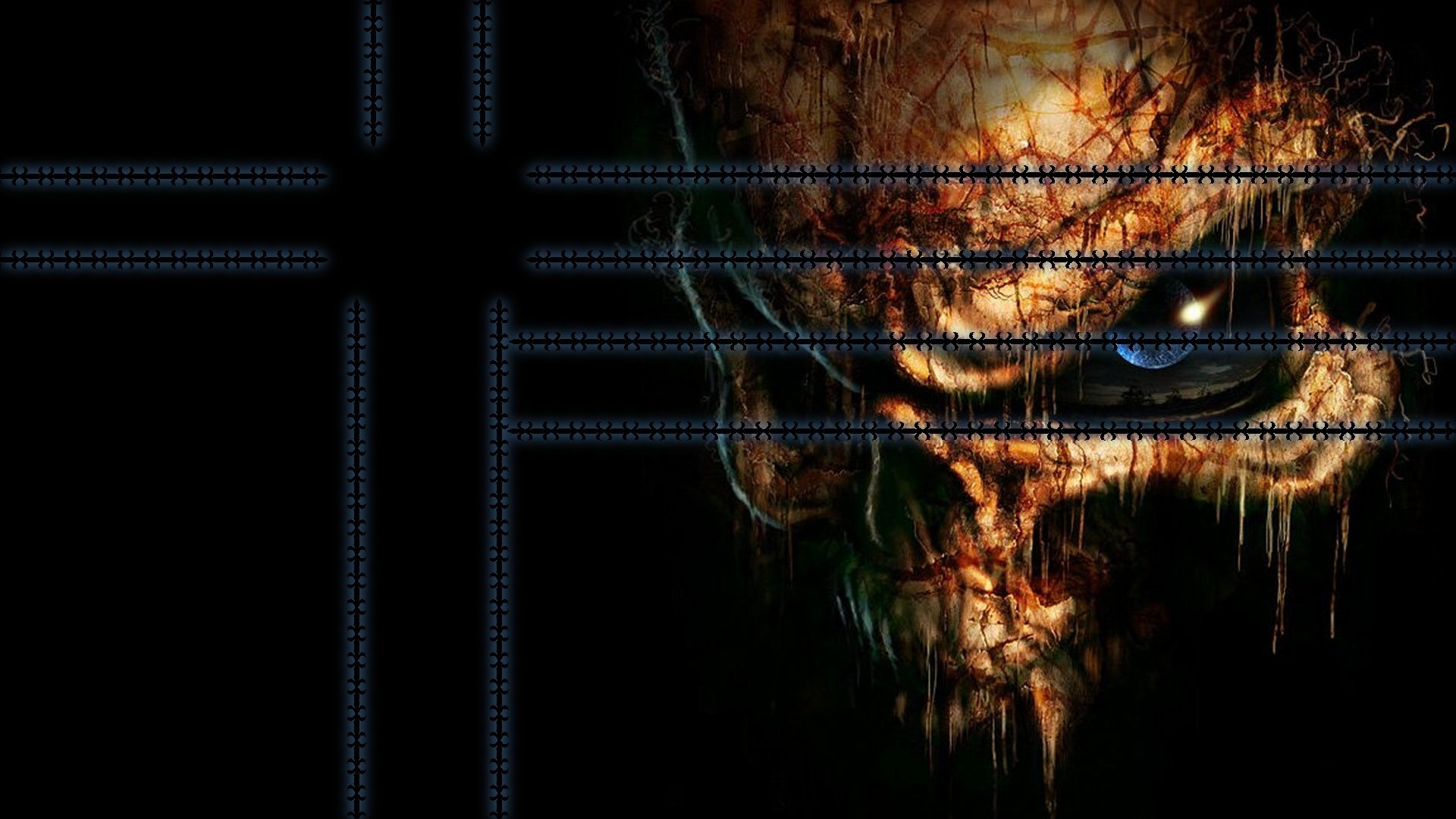 1920x1080 wallpapers ps3 dark skull wallpaper