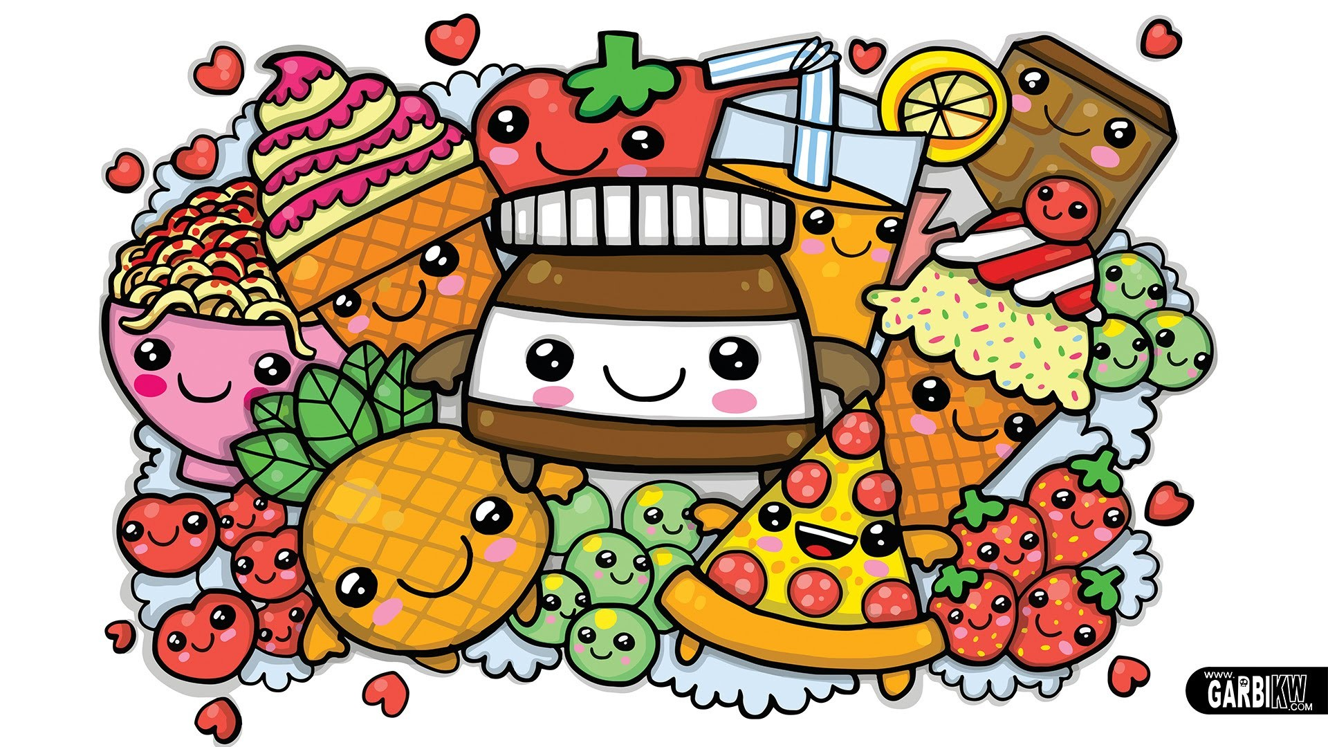 Cute kawaii food wallpaper 57 images - Kawaii food wallpaper ...