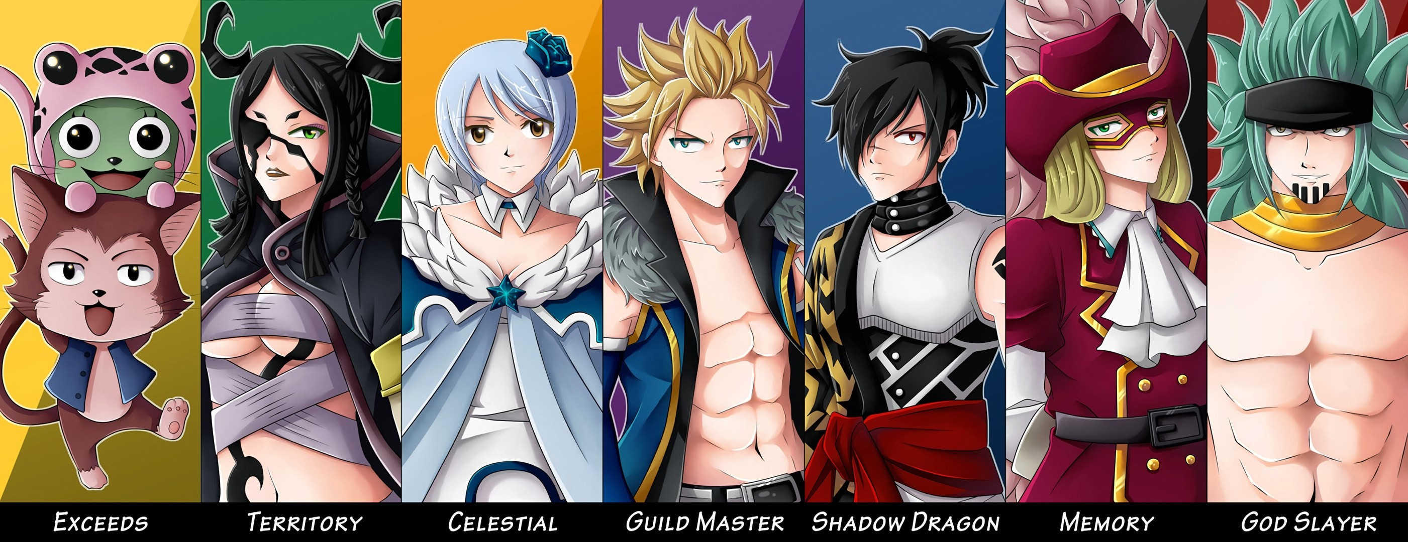 2802x1080 hd wallpaper fairy tail - fairy tail category