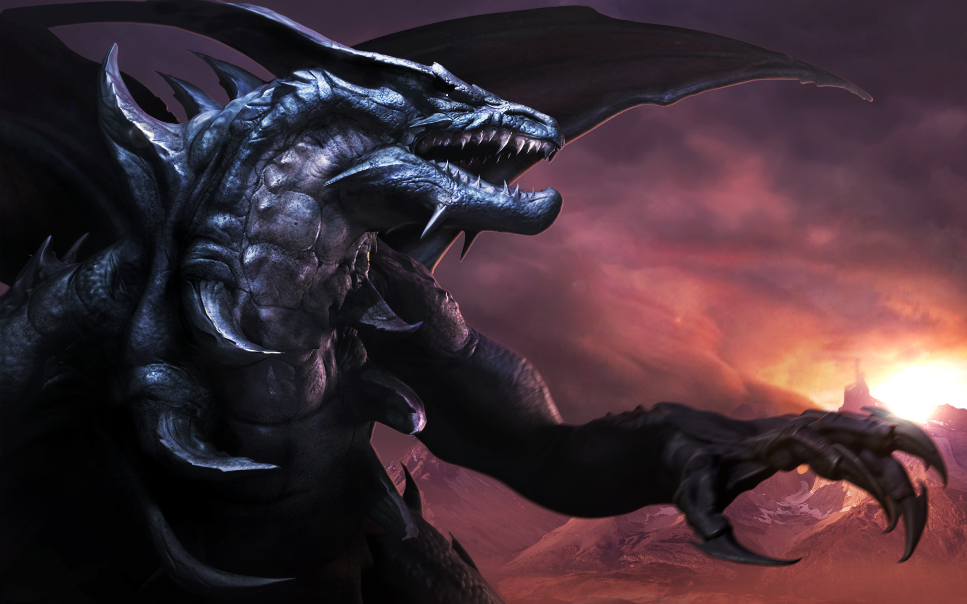 1920x1200 28 Most awesome Black dragon conceptual art in HD