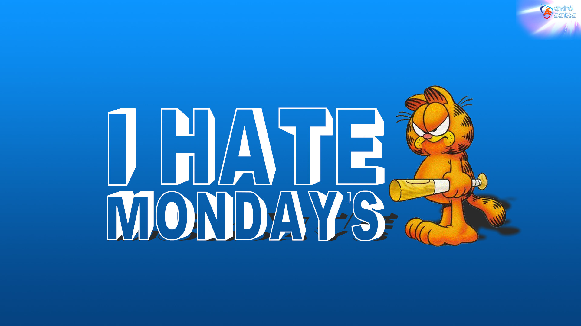 1920x1080 I Hate Mondays Garfield Picture
