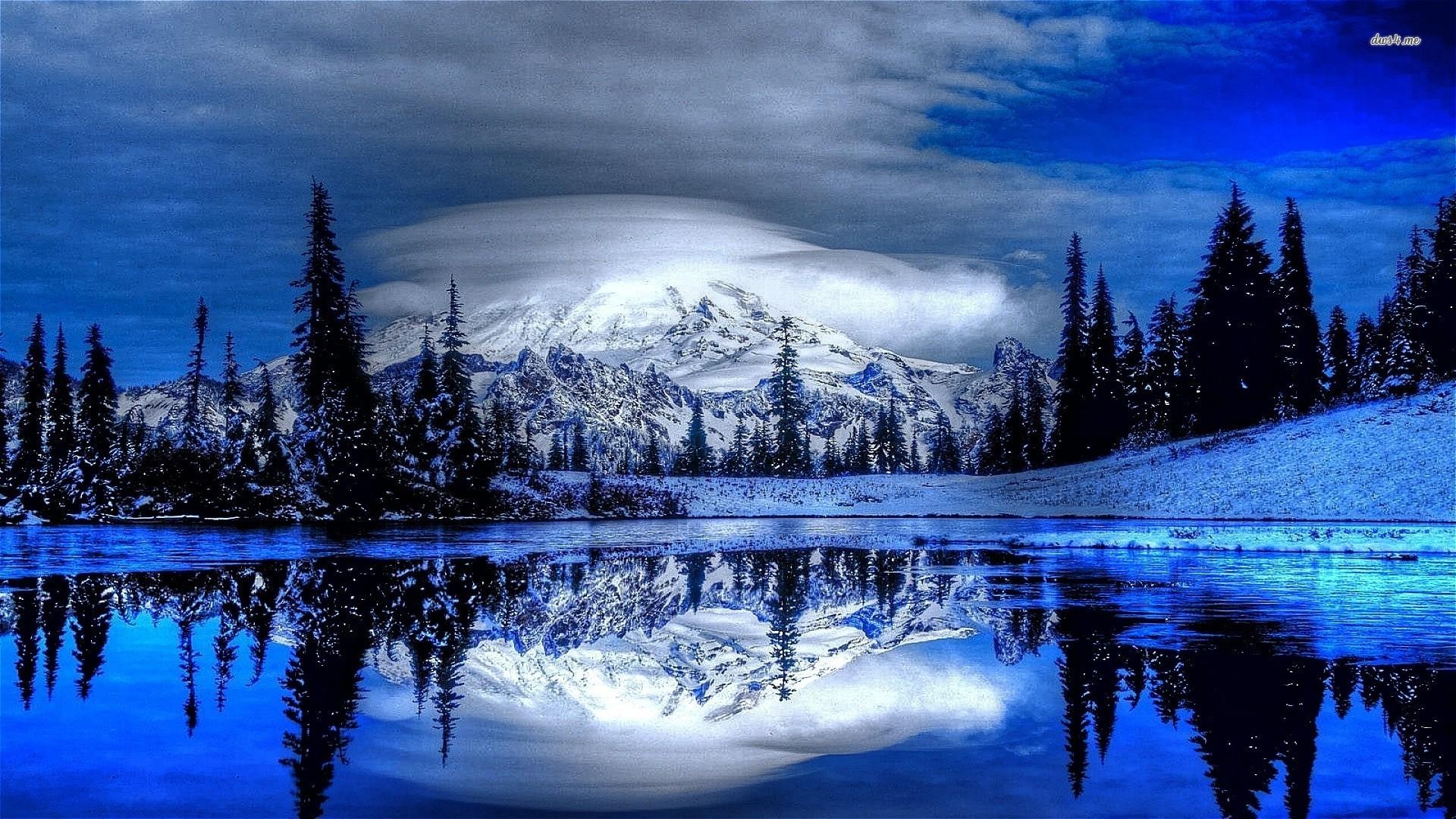 Winter mountain scenes wallpaper 43 images - Mountain screensavers free ...