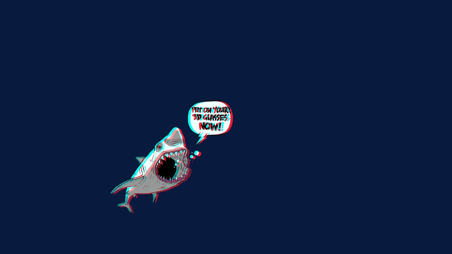 1920x1080 Artistic - Psychedelic Shark 3D Trippy Wallpaper