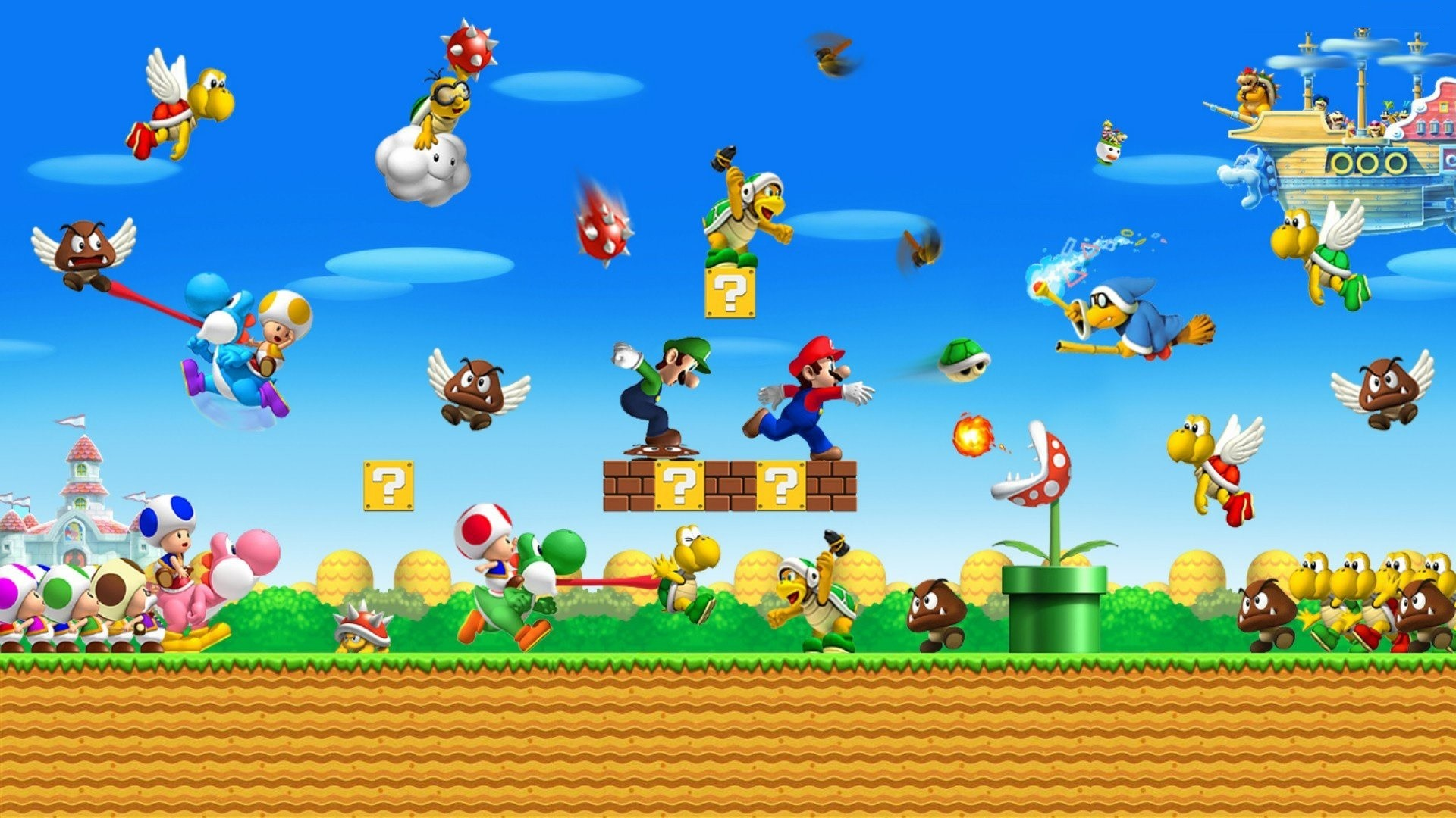 1920x1080 funny game super mario backgrounds full hd desktop images windows 10  backgrounds colourful computer wallpapers cool colours artwork 1920×1080  Wallpaper HD
