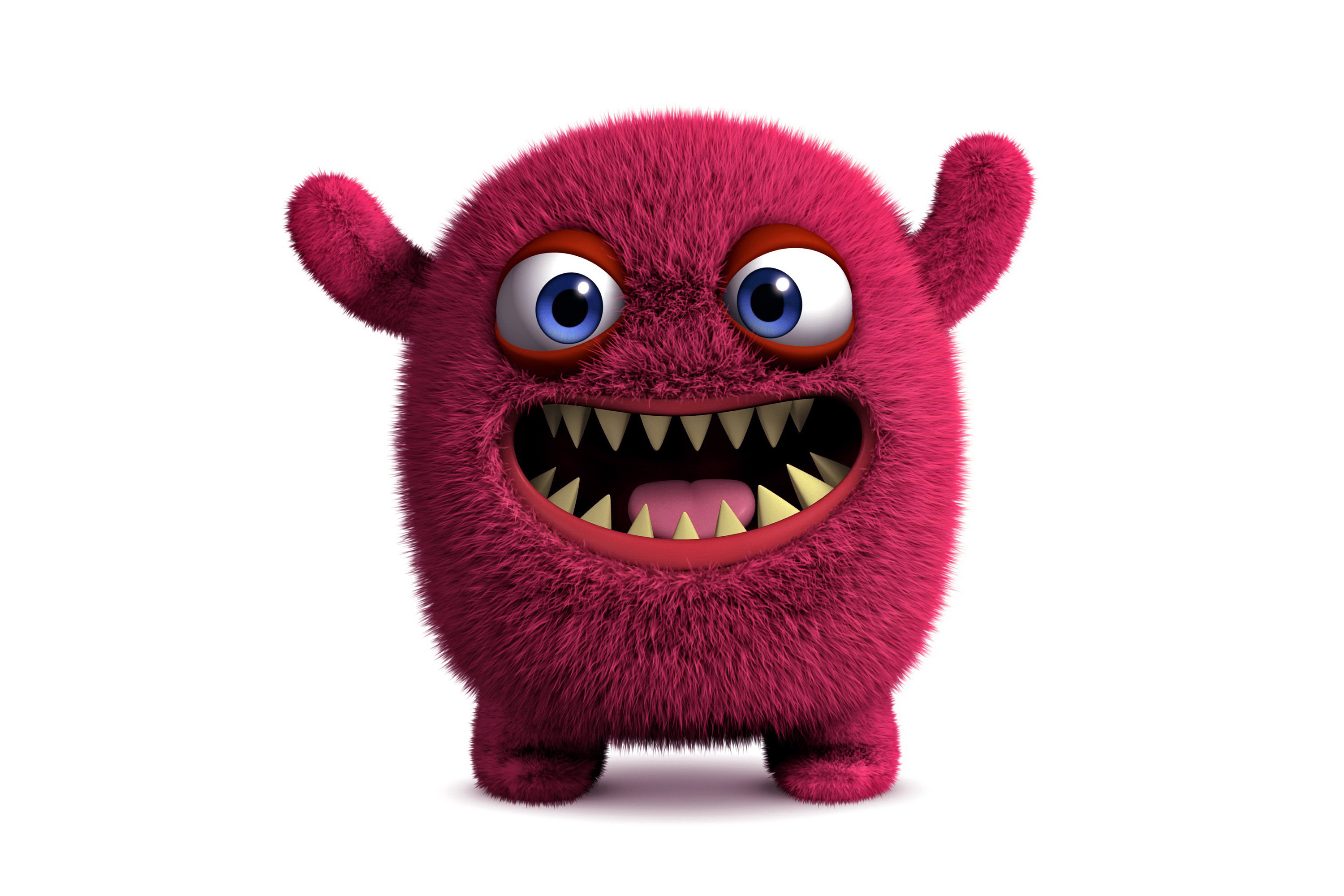 monster fluffy cute funny 3d face animated wallpapers abstract rendering wallpapersafari desktop code
