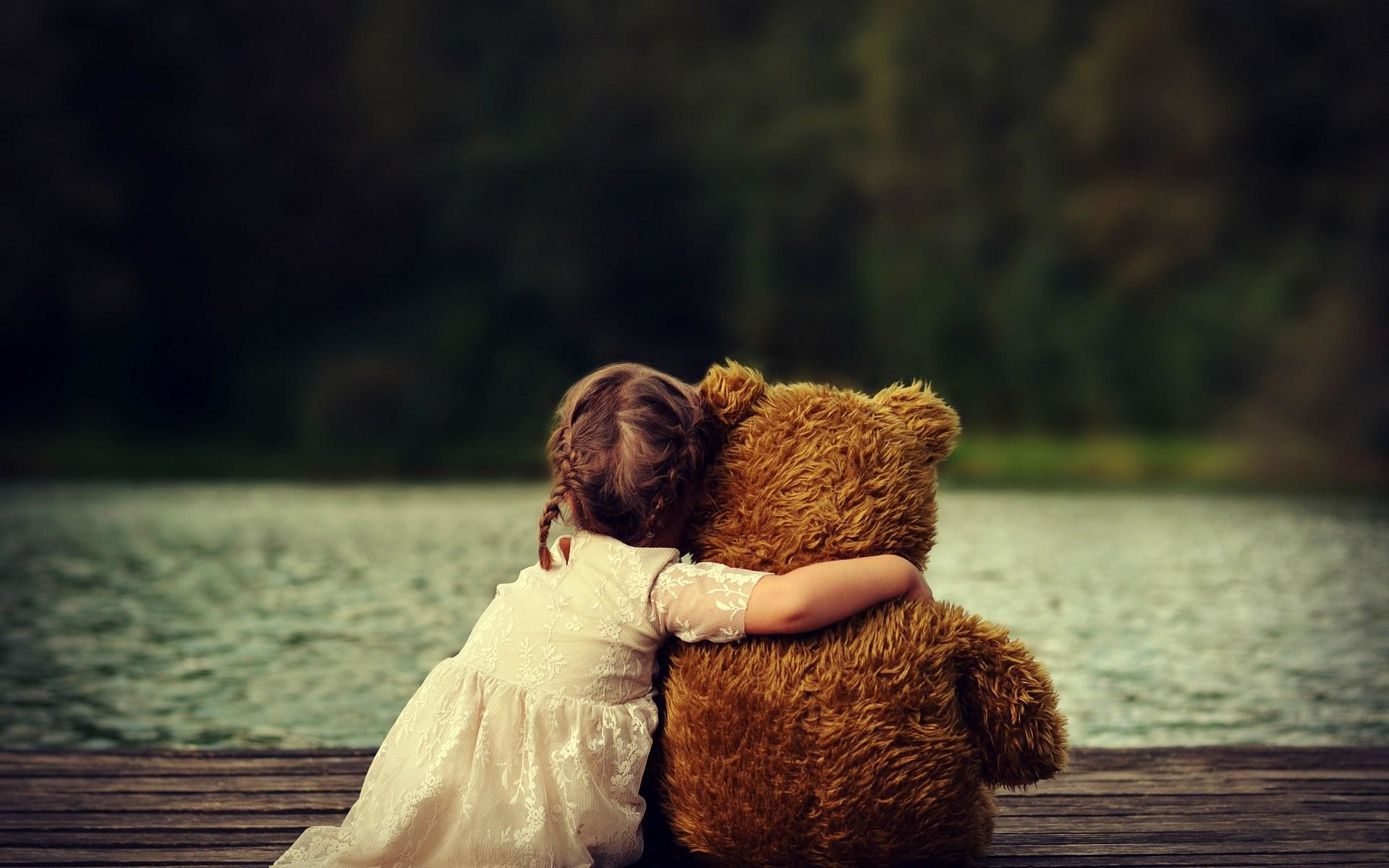Teddy bear wallpaper 58 images 1920x1200 hd cute child girl with teddy bear wallpaper voltagebd Gallery