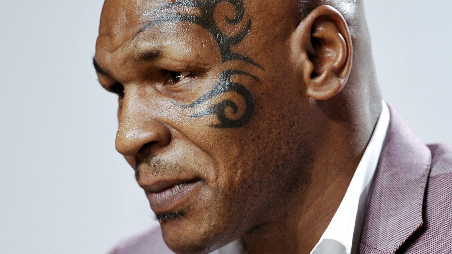 1920x1080  Wallpaper mike tyson, boxer, face, tattoo