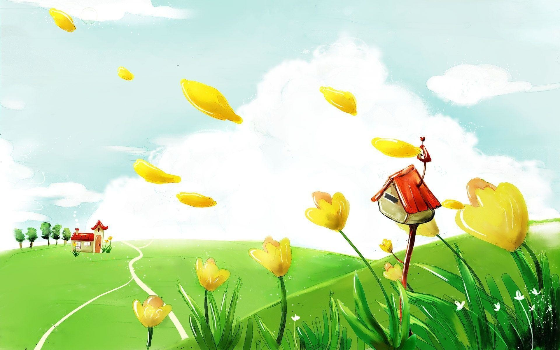 1920x1200 Cartoon Children Background Powerpoint Templates | Kitchen Design .