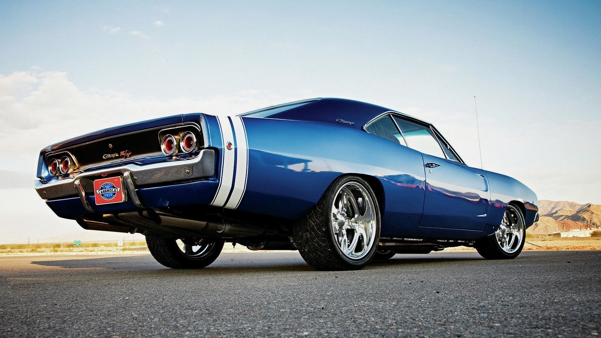 1920x1080 wallpaper.wiki-Blue-1970-Dodge-Charger-Background-Free-