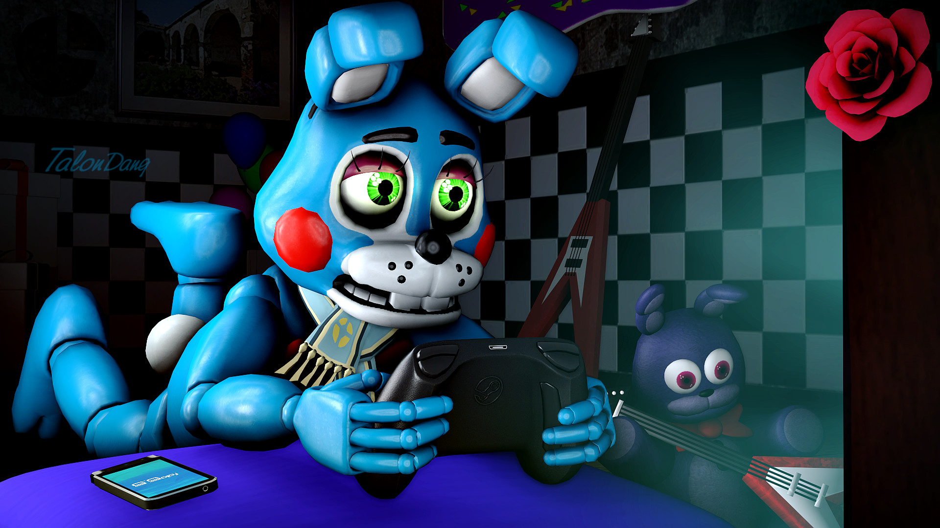 1920x1080 ... During Toy Bonnie's free time... by TalonDang