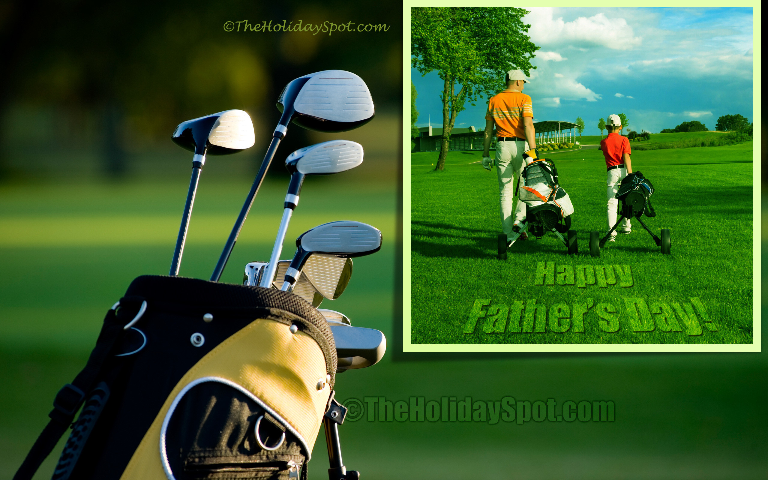2560x1600 Happy Father's Day Wallpaper themed with Golf ...