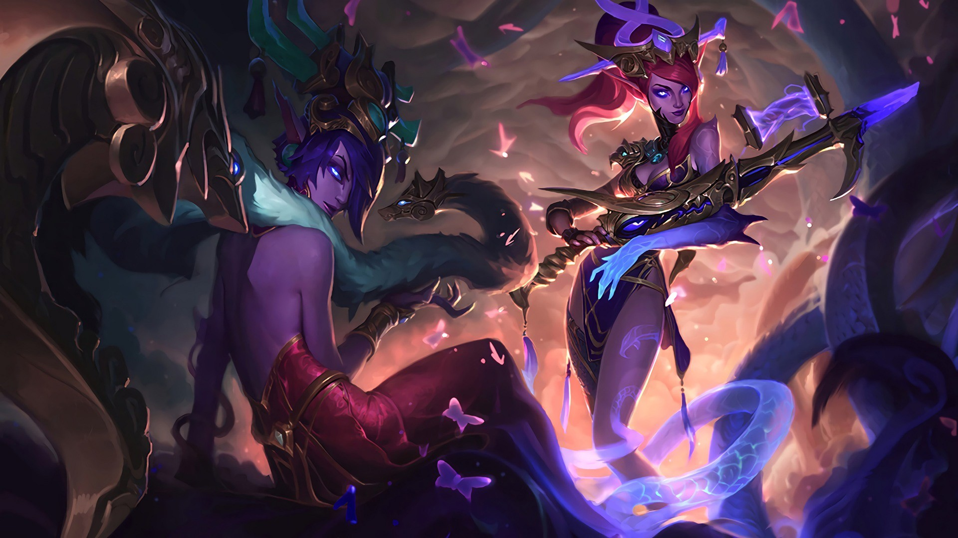 1920x1080 Download-wallpaper-Lunar-Wraith-Caitlyn-and-Morgana-full-