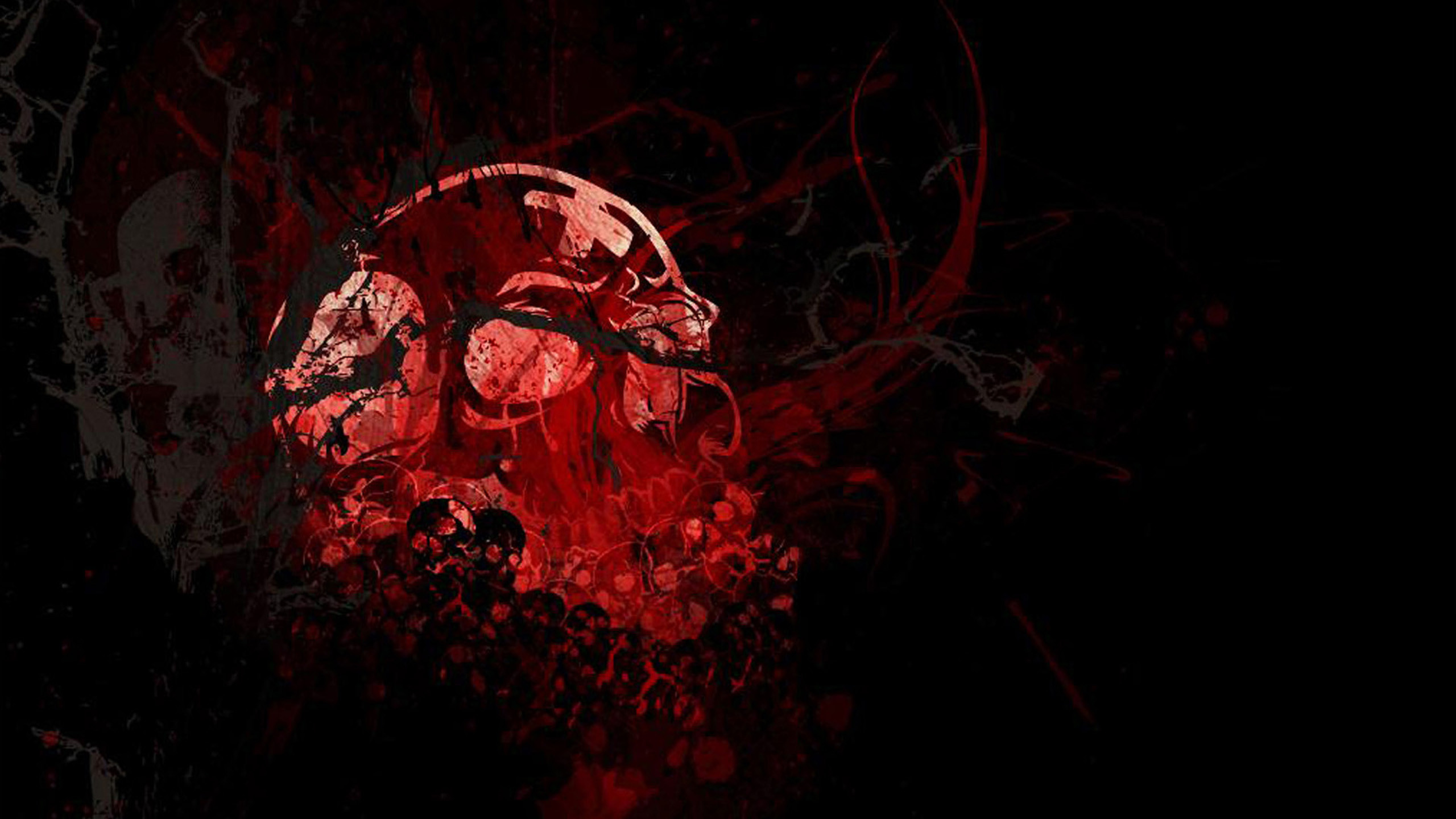 2560x1440 Skull HD Wallpapers Backgrounds Wallpaper 2560×1440 Red And Black Skull  Wallpapers (44 Wallpapers