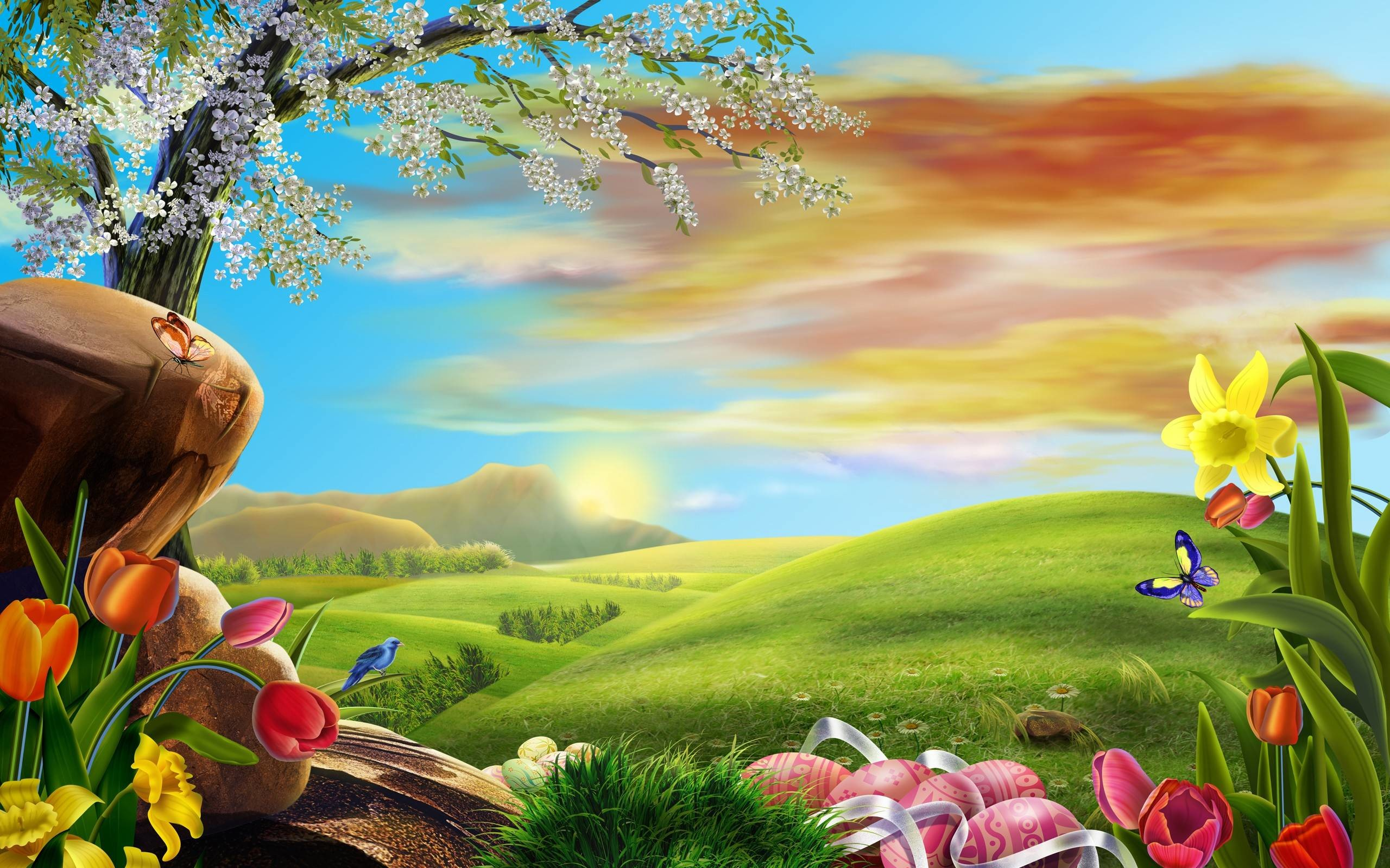 2560x1600 2014 Easter Holiday Desktop Background Wide or HD | Flowers Wallpapers