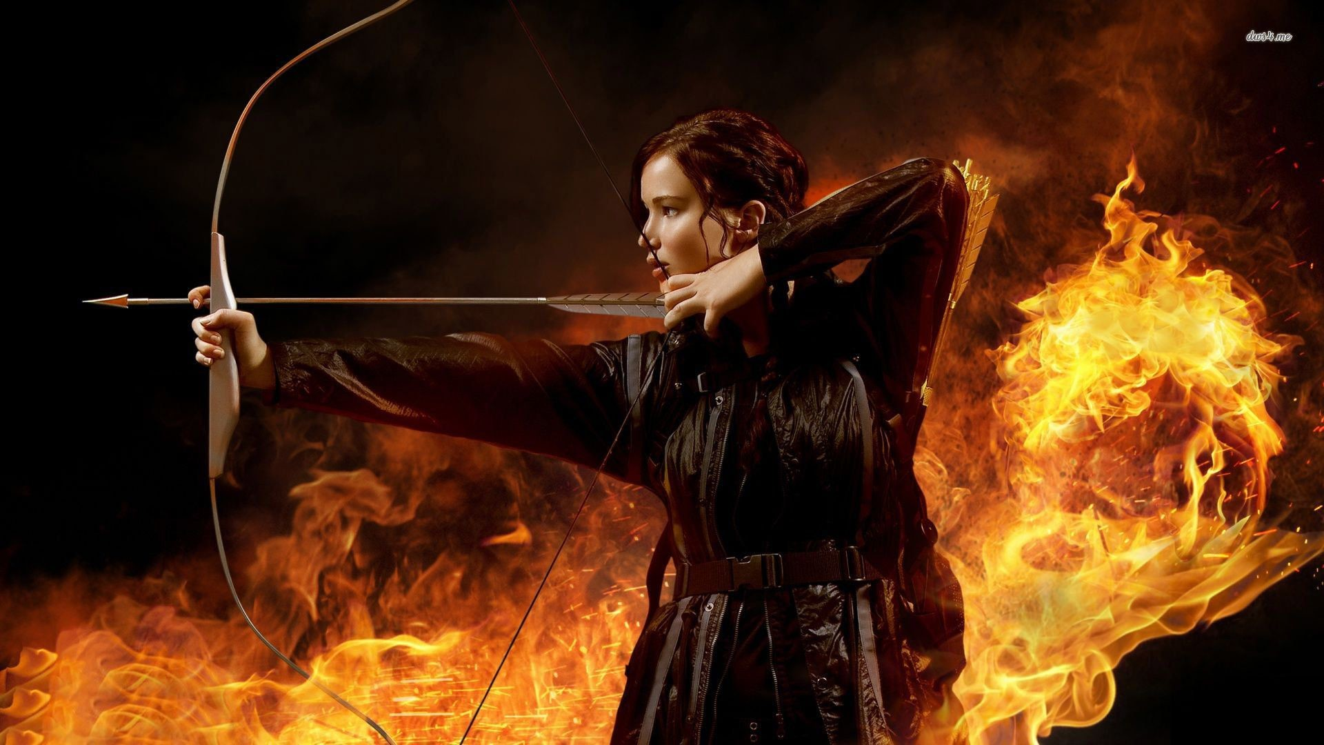 1920x1080 Jennifer Lawrence as Katniss in The Hunger Games wallpaper - Movie .