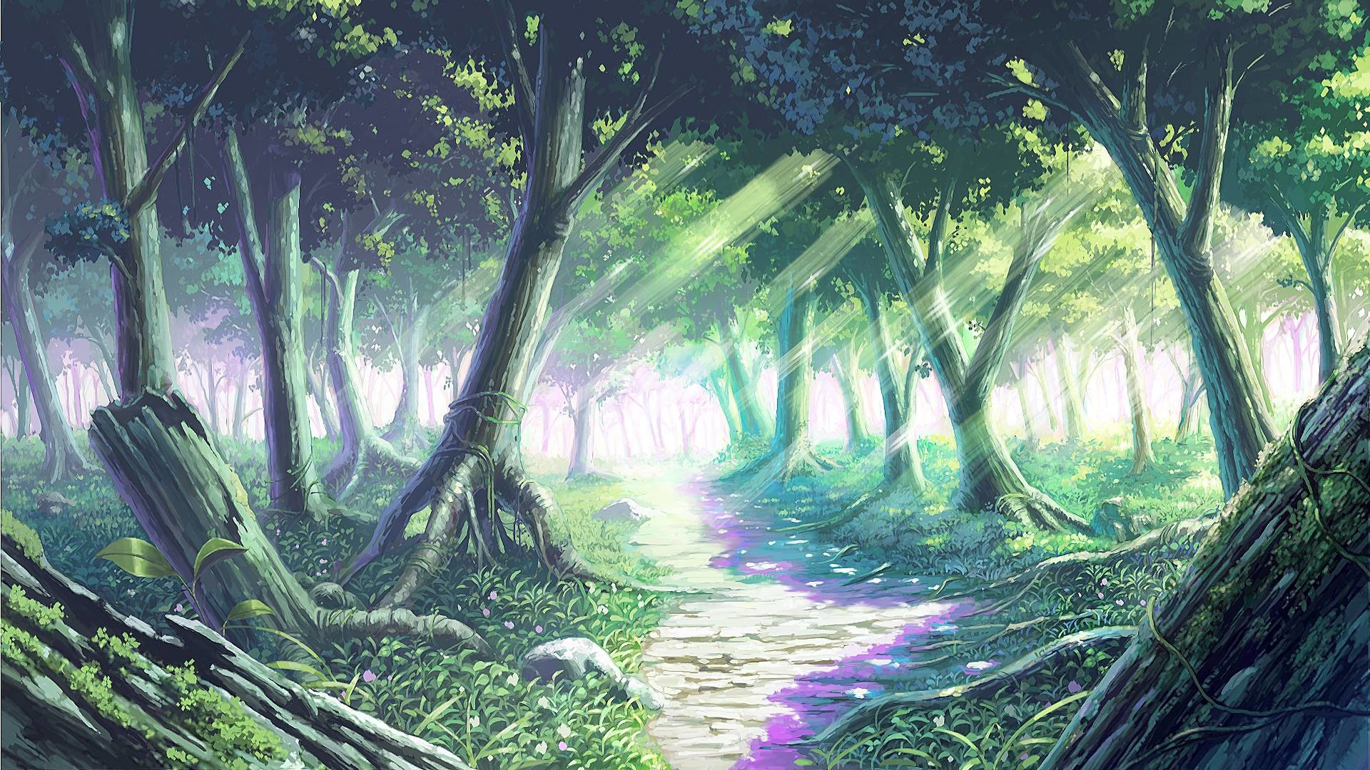 1920x1080 Anime Forest Backgrounds - Wallpaper Cave