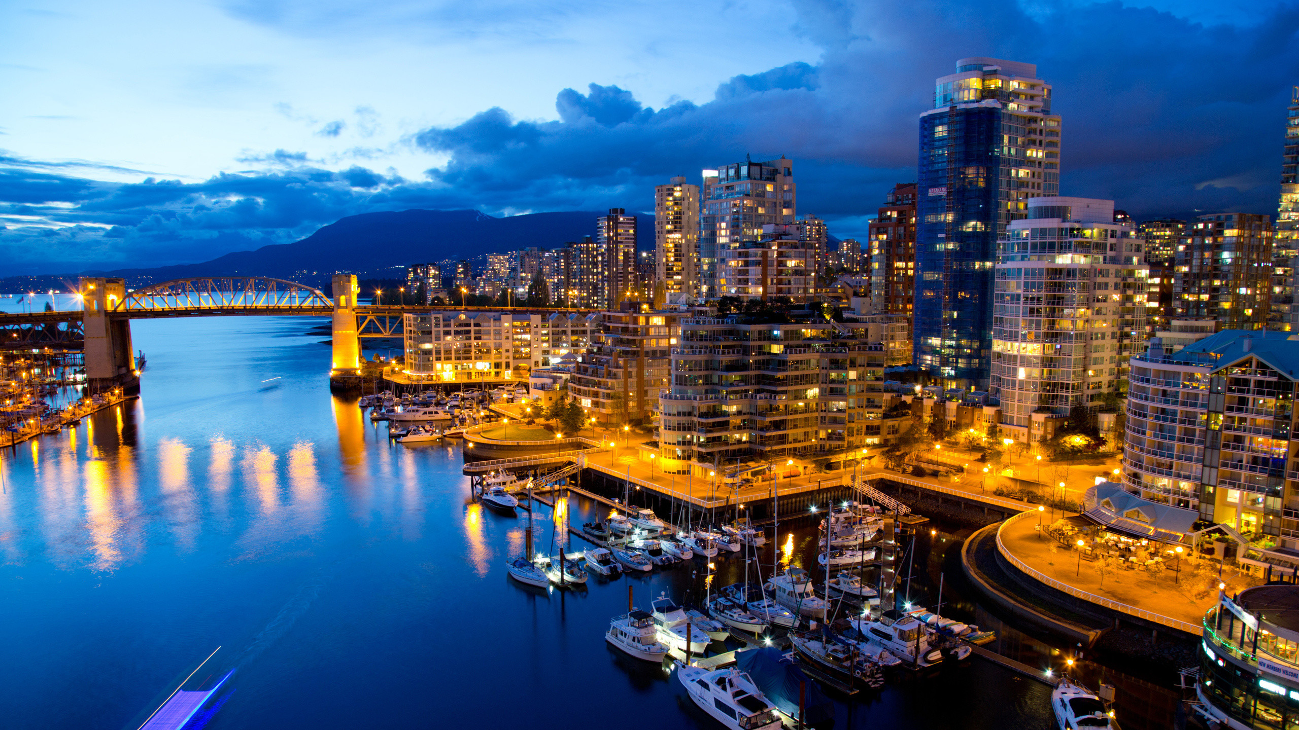 2560x1440 Skyline, Reflection, Capital City, Urban Area, Vancouver Wallpaper in   Resolution