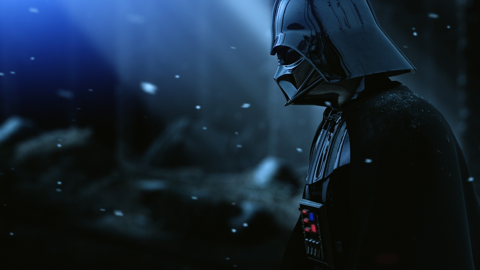 1920x1080 Preview wallpaper darth vader, armor, star wars, film, hat, snow