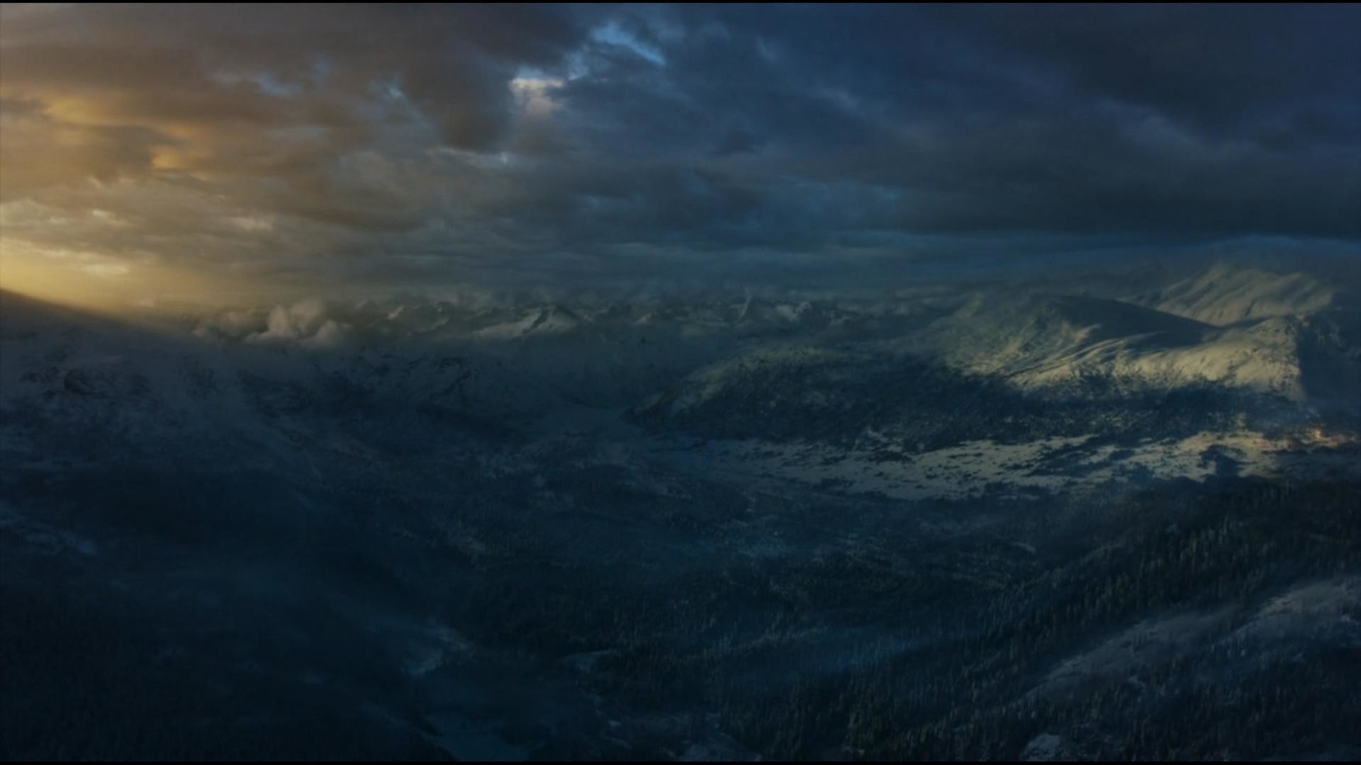 1920x1080 Looking North over the Wall from Game of Thrones Season 3, Episode 6 .