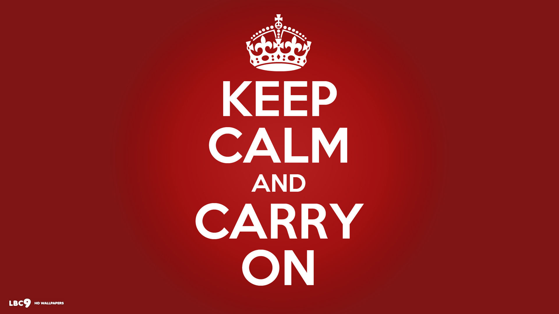 1920x1080 Keep Calm And Carry On White