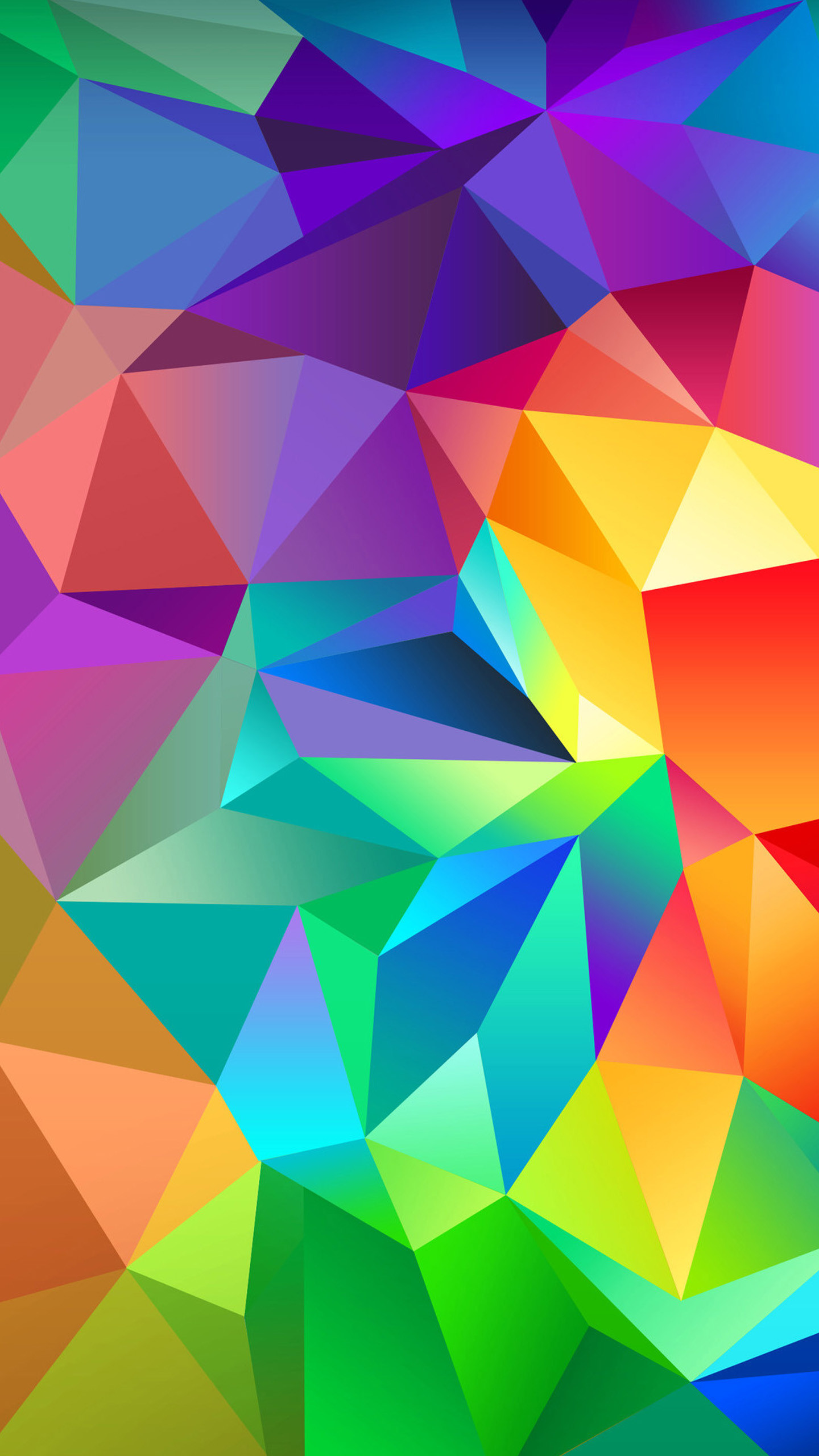 1440x2560 Colorful Abstract Shapes Galaxy S7 Wallpaper ()
