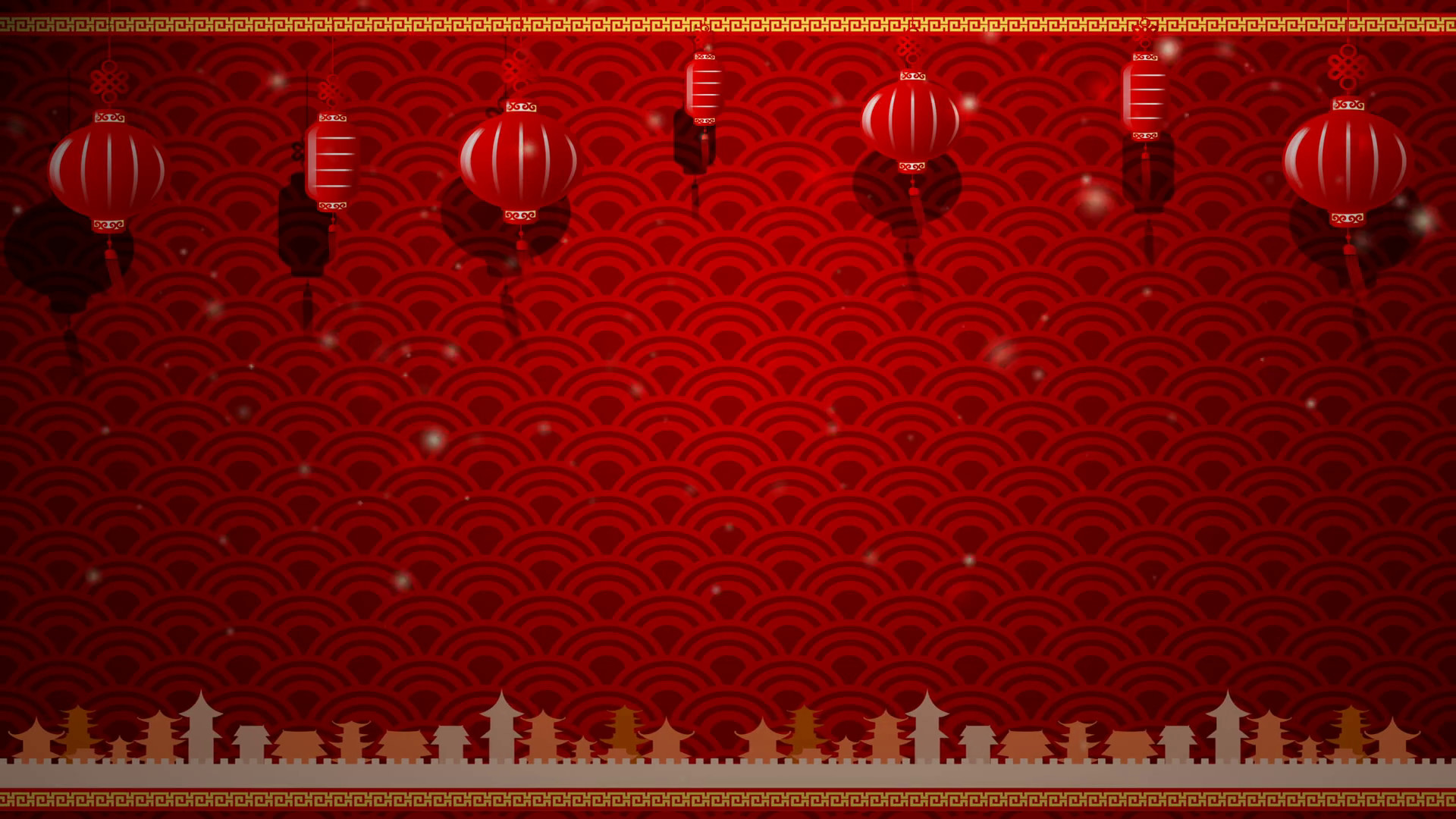 1920x1080 Chinese Art Background And Red Lantern With Moving Border With Copy Space  And Loop 002 Motion Background - Storyblocks Video