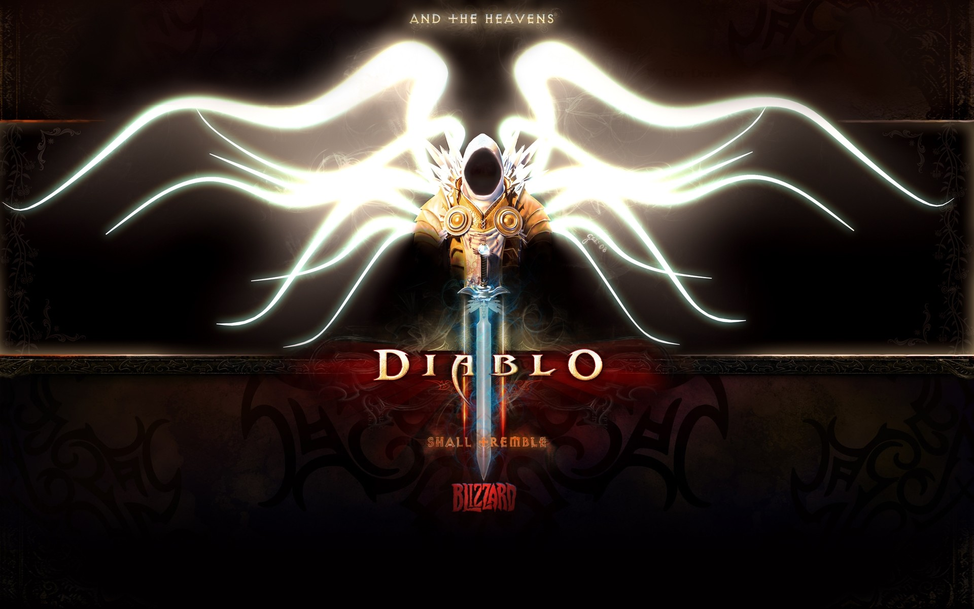 1920x1200  Wallpaper diablo 3, tyrael, angel, archangel, character, wings,  hood