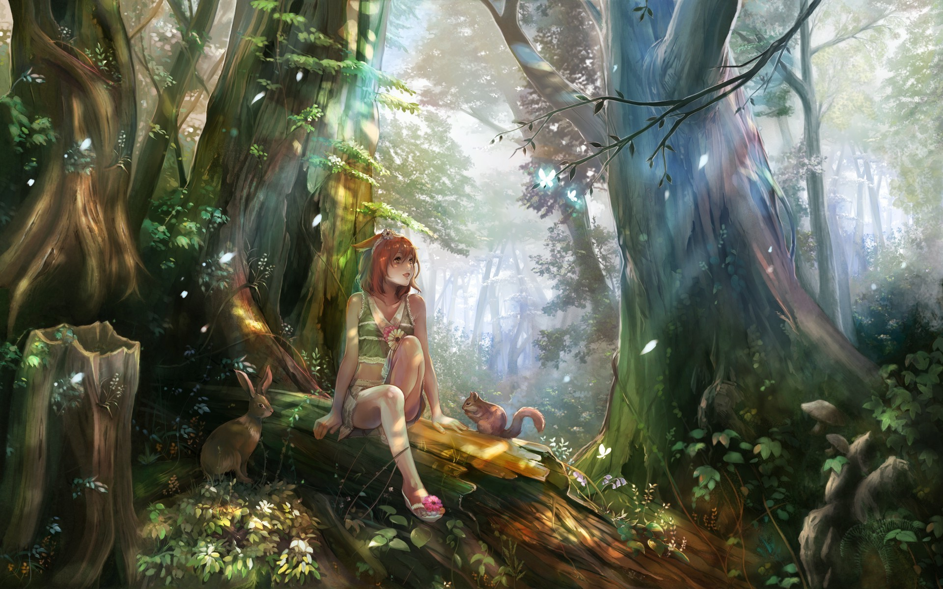 1920x1200 anime, Anime Girls, Nature Wallpapers HD / Desktop and Mobile Backgrounds