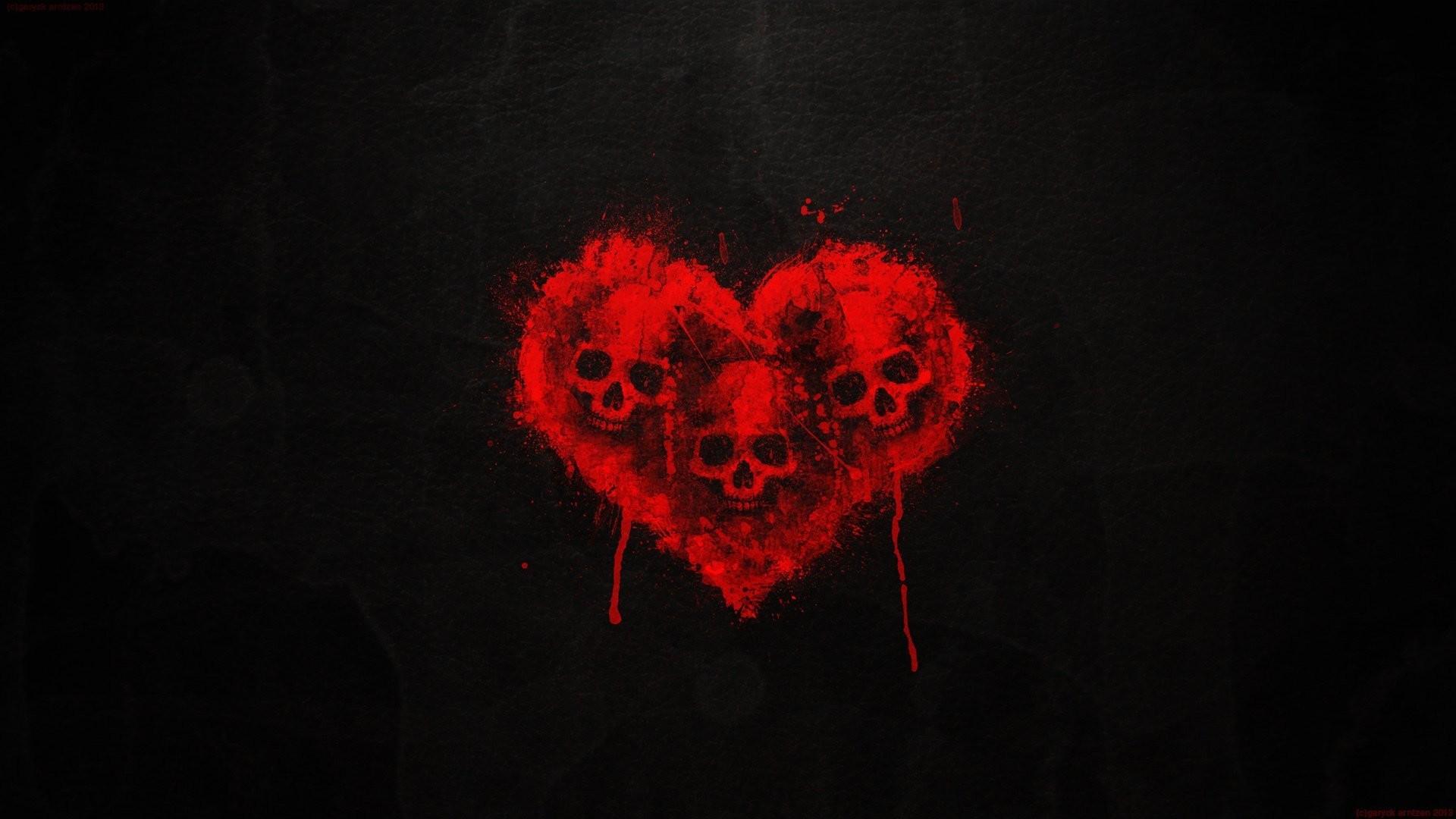 1920x1080 Wallpaper Patterns Lines Heart Black Background