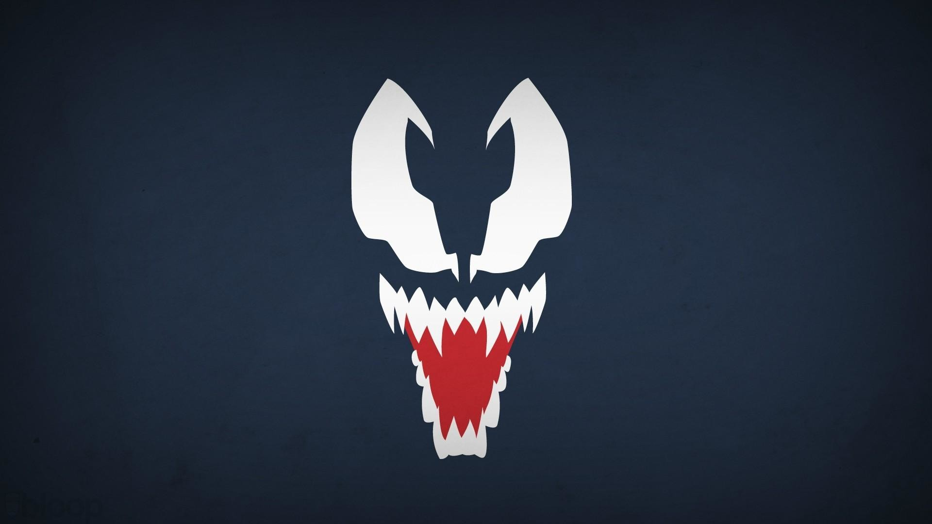 1920x1080 Venom marvel comics navy blue background villians blo0p wallpaper .