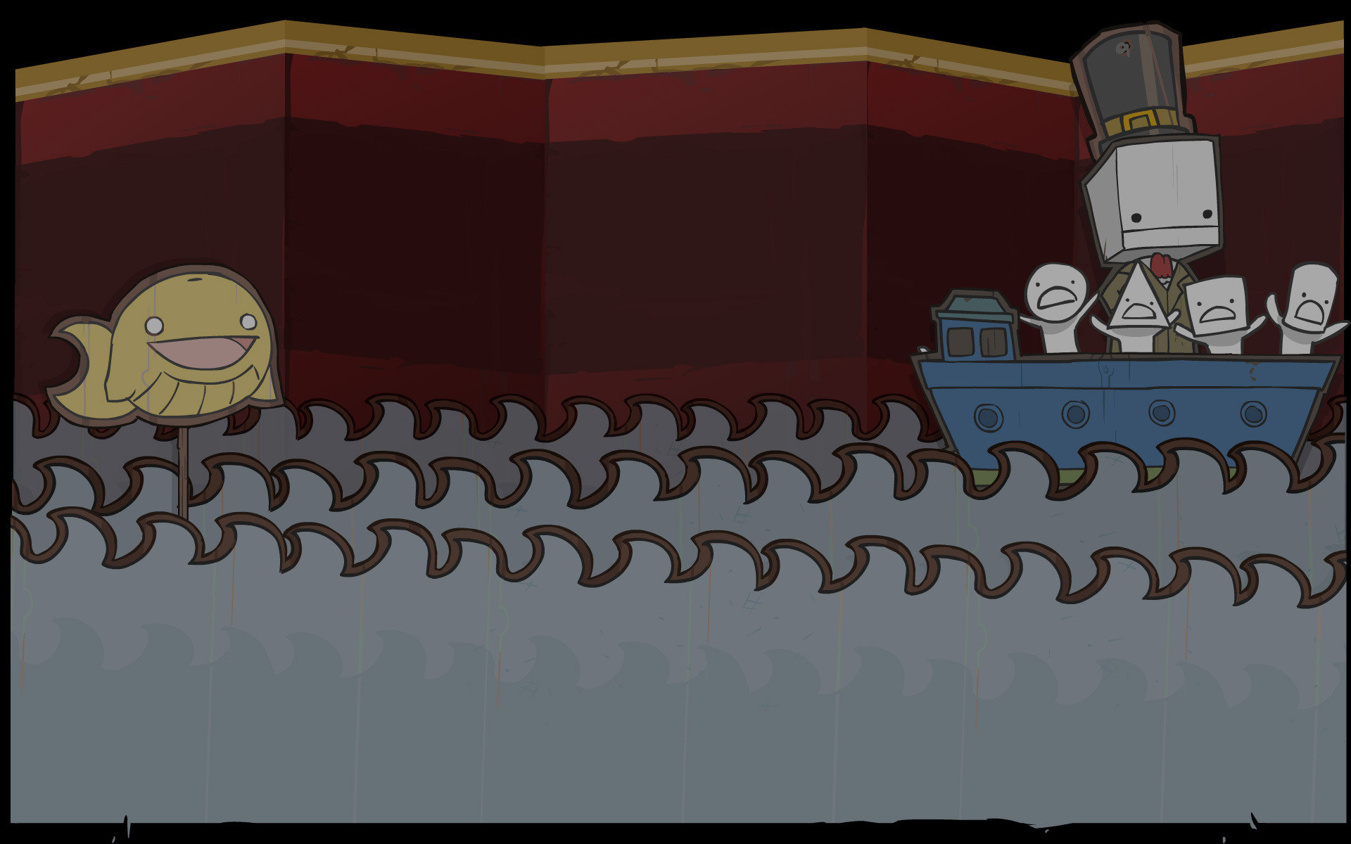 1920x1200 BattleBlock Theater Background Boats, Puppets, and Golden Whale Sharks.jpg