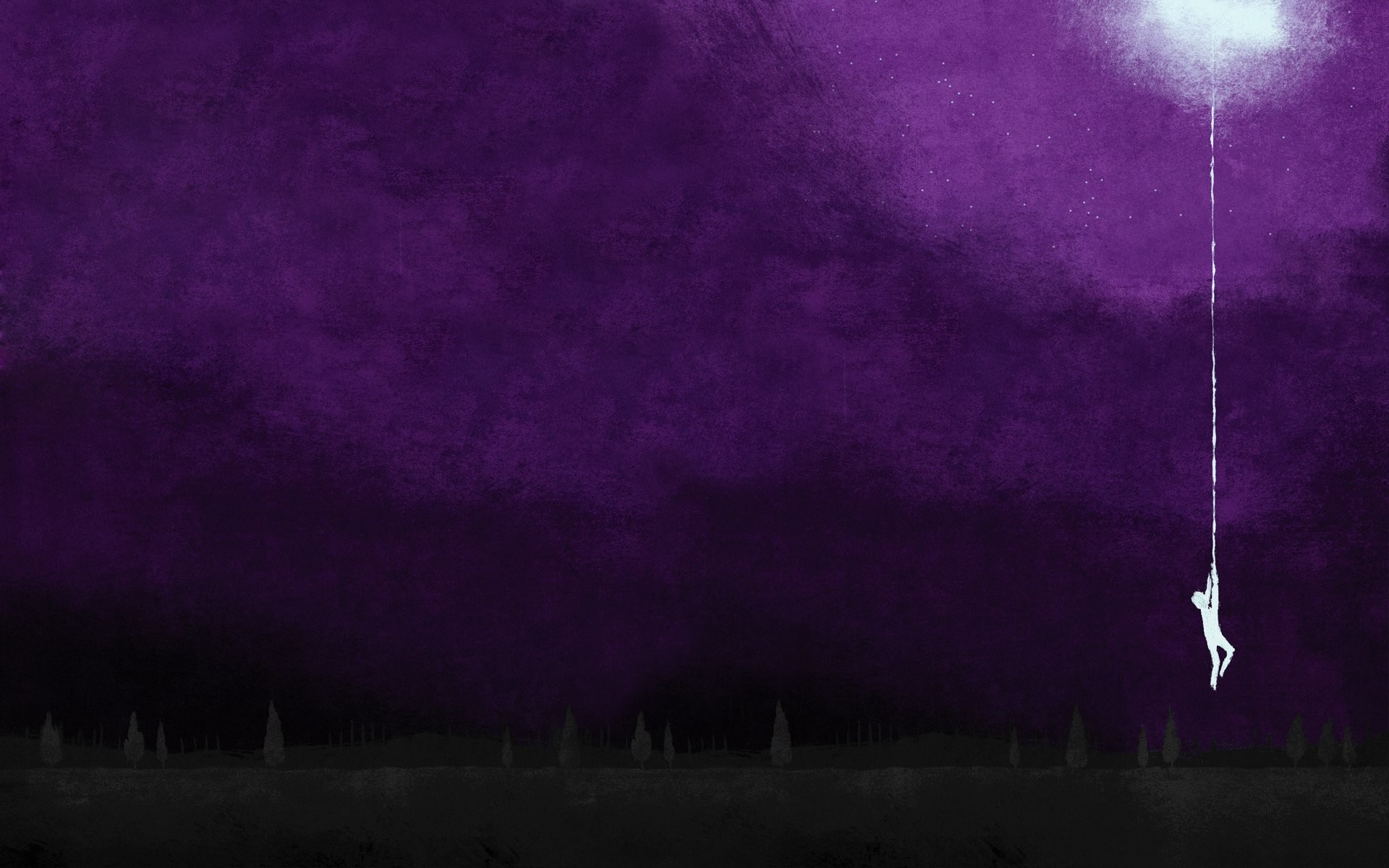 1920x1200 Moon silhouettes hanging artwork album covers purple background August  Burns Red wallpaper |  | 257852 | WallpaperUP