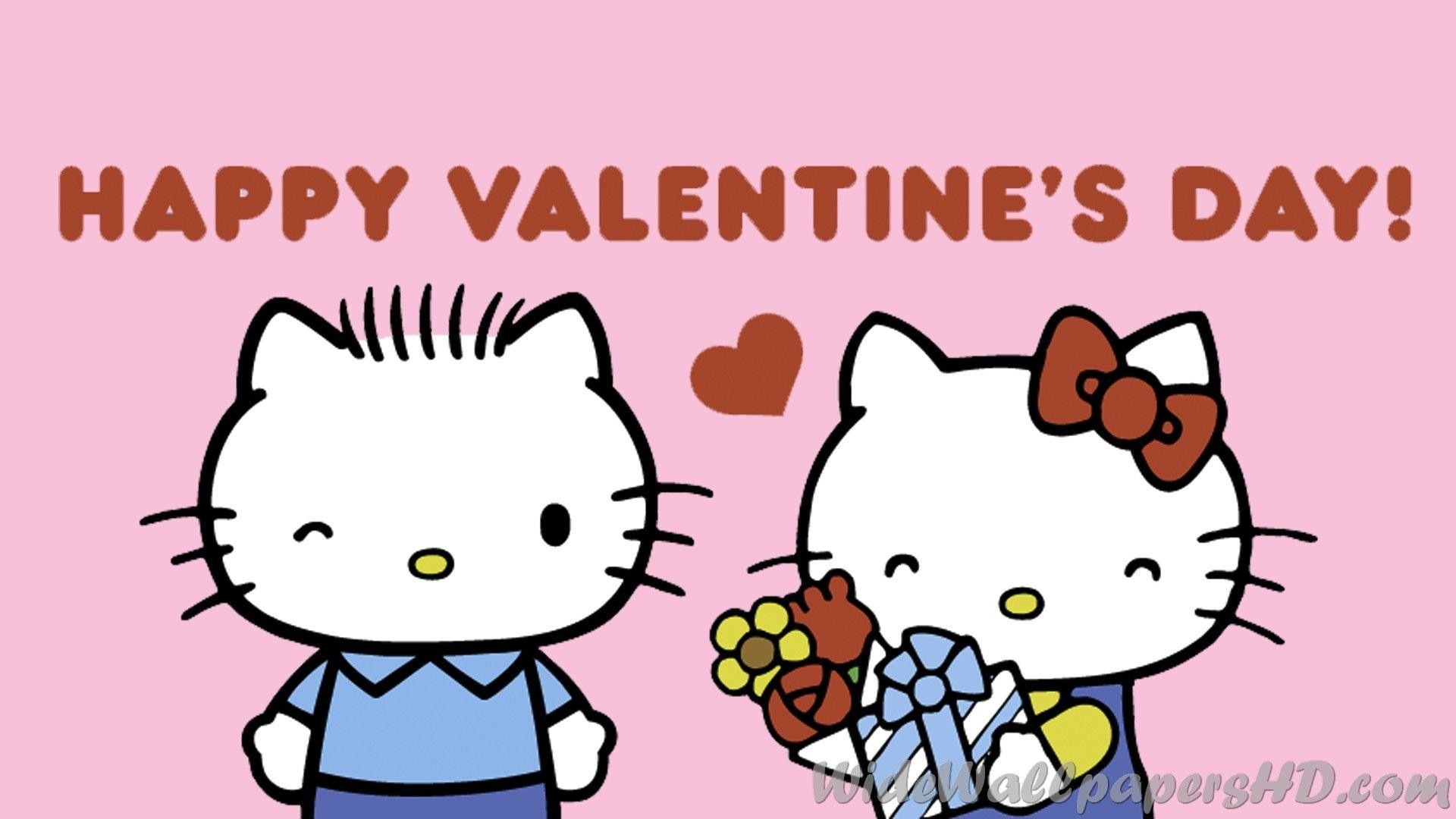 1920x1080 Hello Kitty Valentines Day | Best Wallpapers