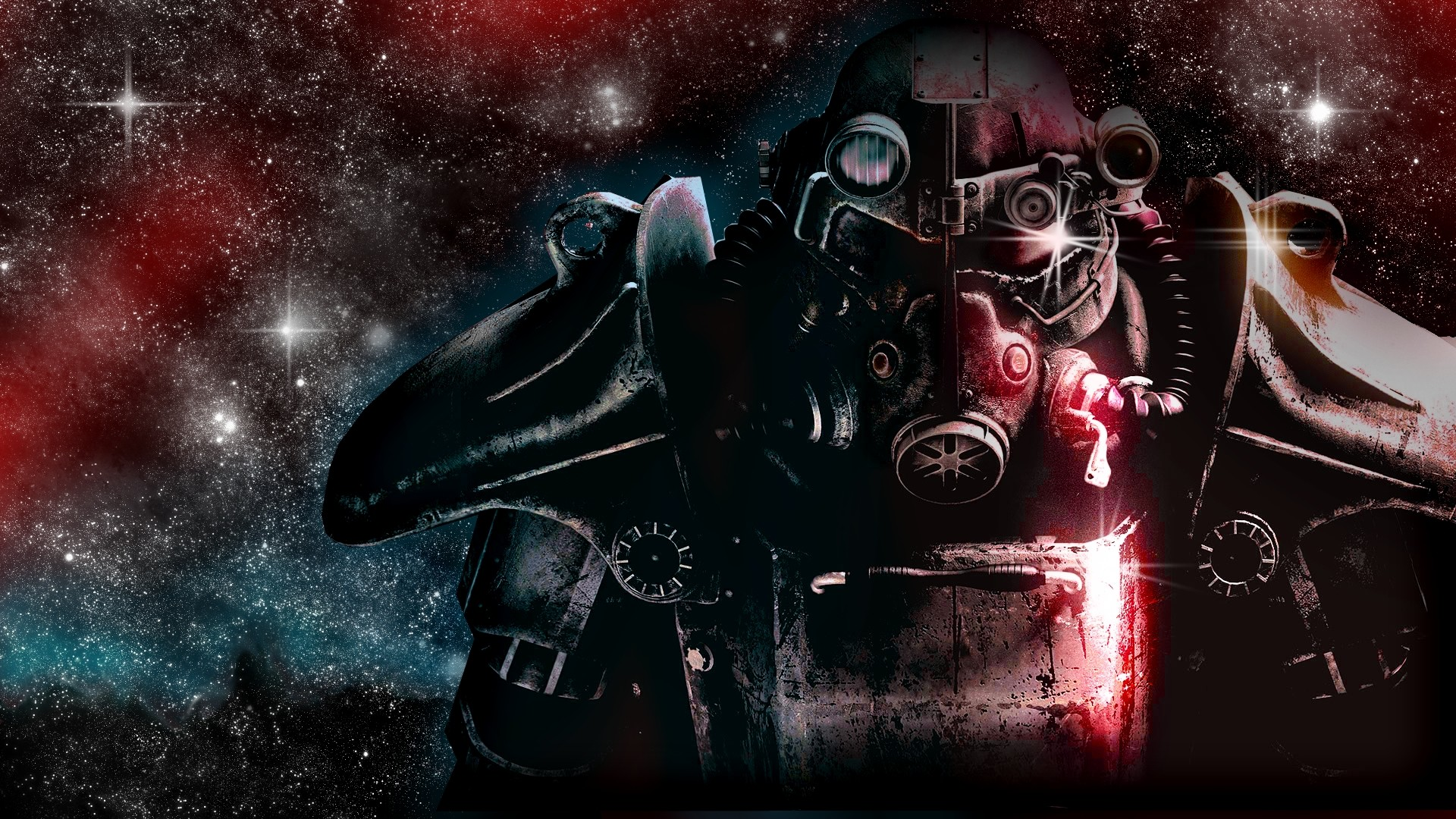1920x1080 Preview wallpaper fallout, space, stars, look, character