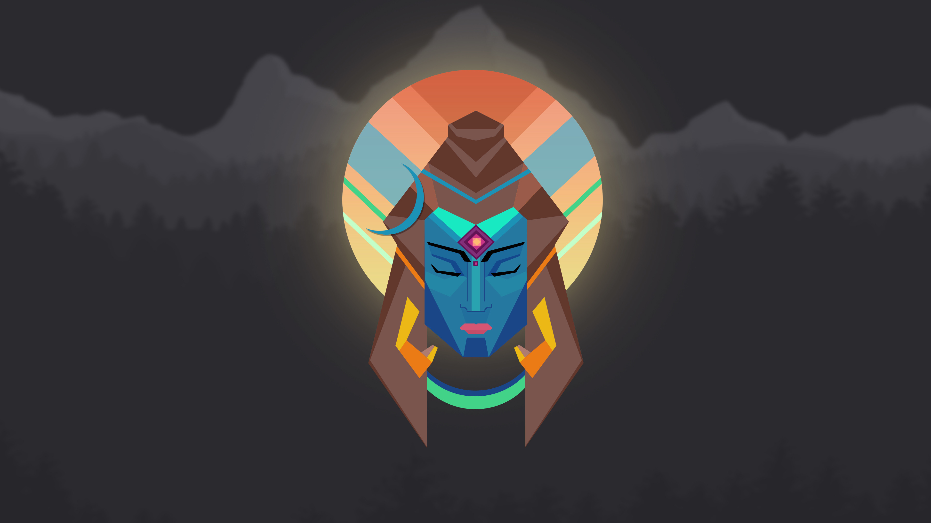 3840x2160  Lord Shiva Minimal Wallpaper - 4K
