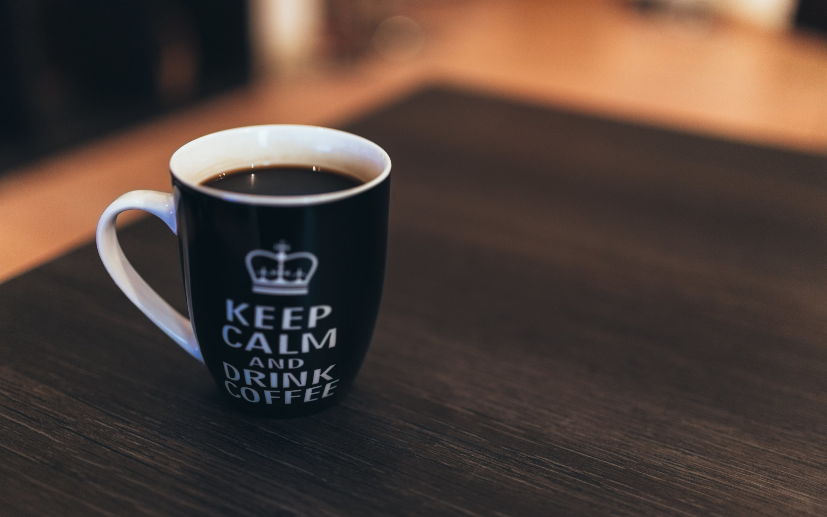 2880x1800 Keep Calm Drink Coffee Wallpaper HD Desktop
