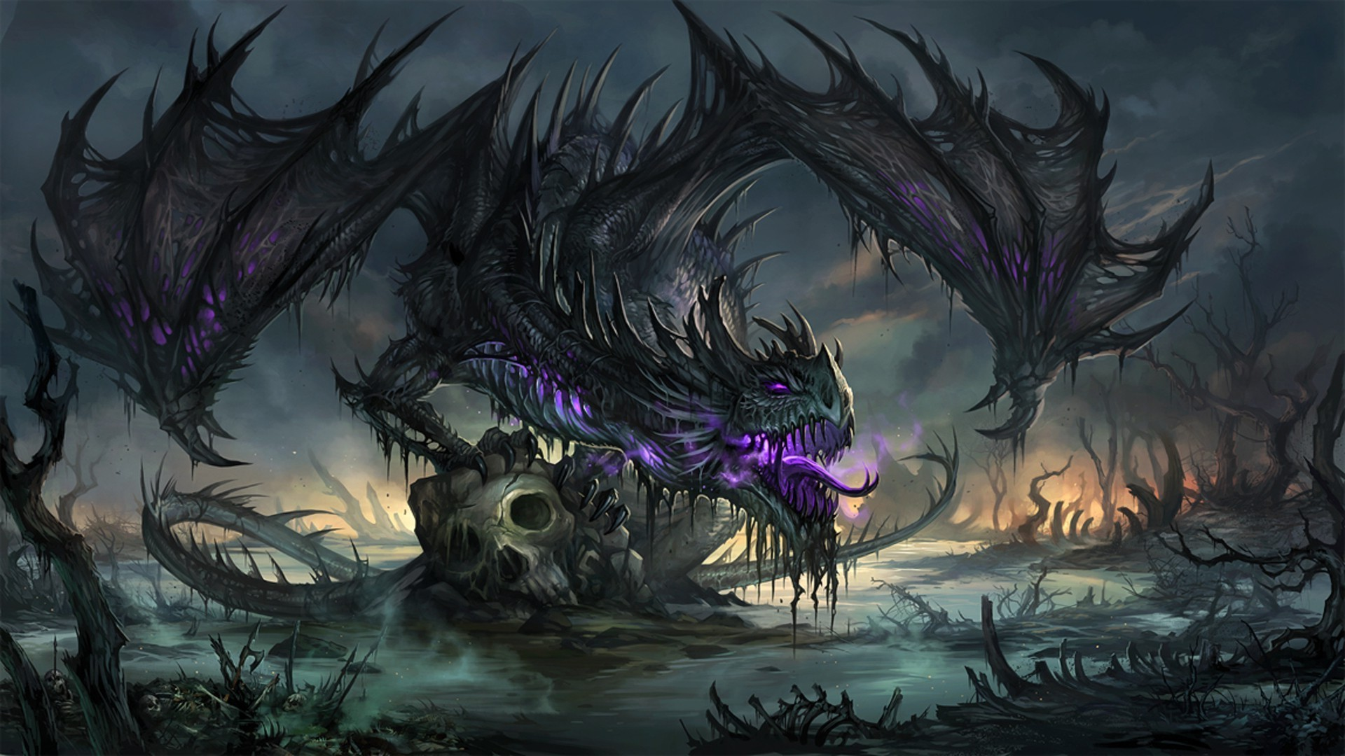 1920x1080 ... Lightning Dragon Wallpapers - Wallpaper Cave ...