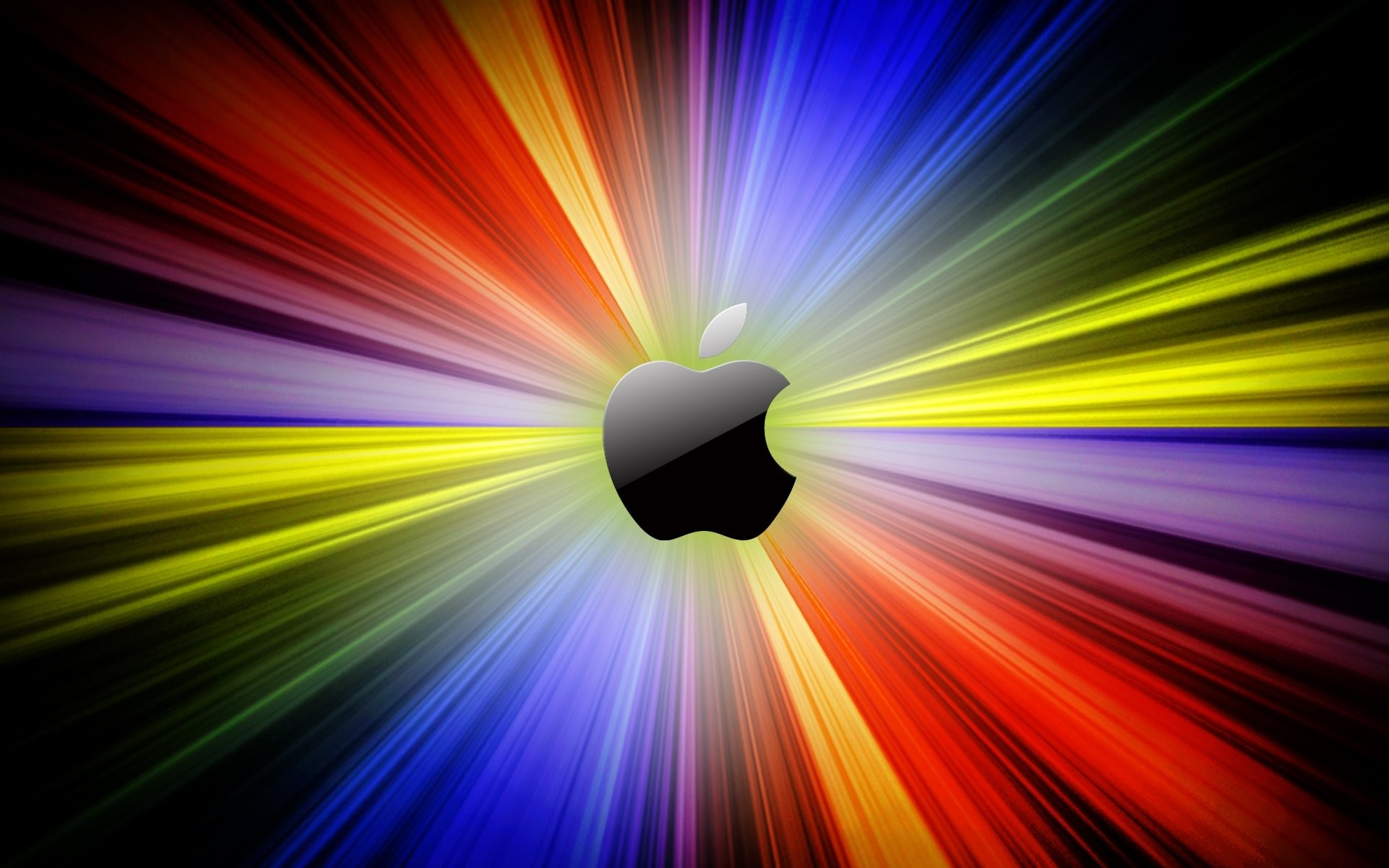 1920x1200 Apple Rainbow Wallpaper High Definition