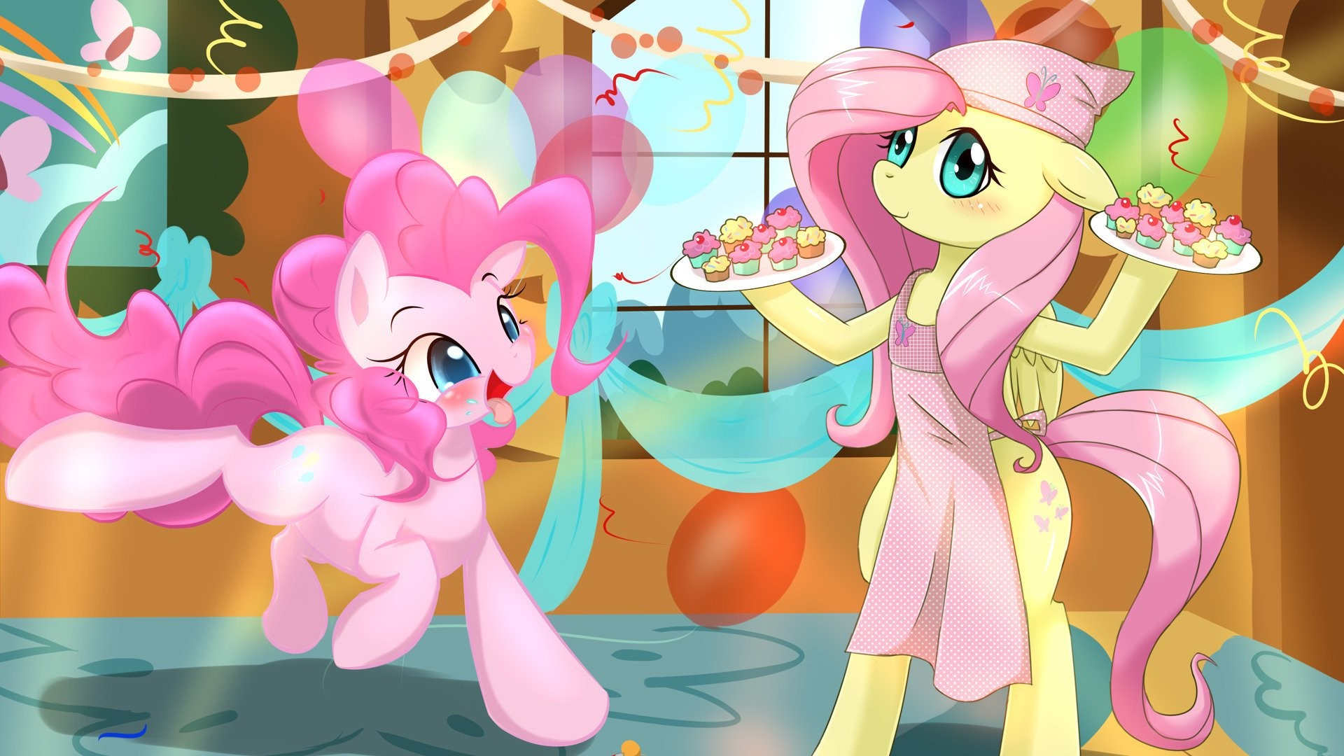 1920x1080 Fluttershy And Pinkie Pie