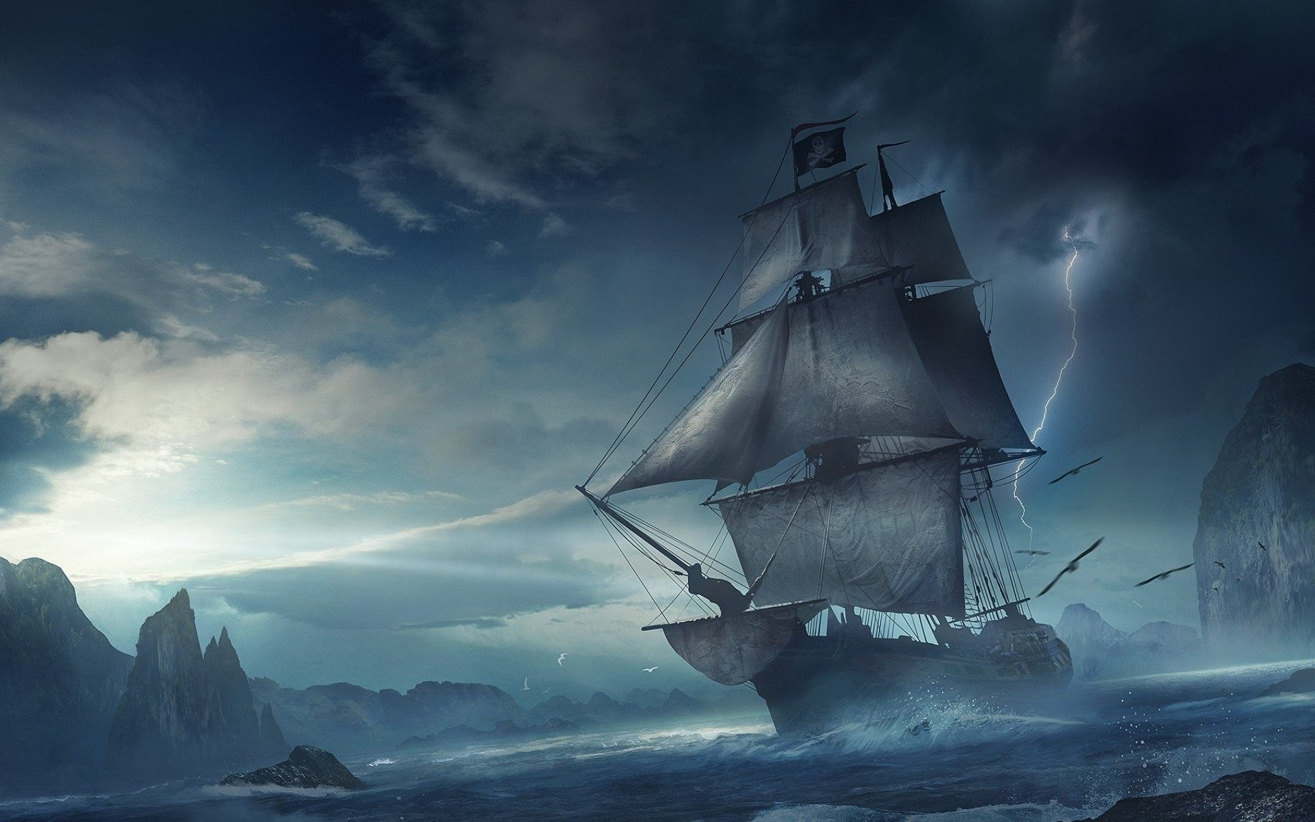 1920x1200  HD Wallpaper | Background ID:555441. Download. Pirate Ship ...