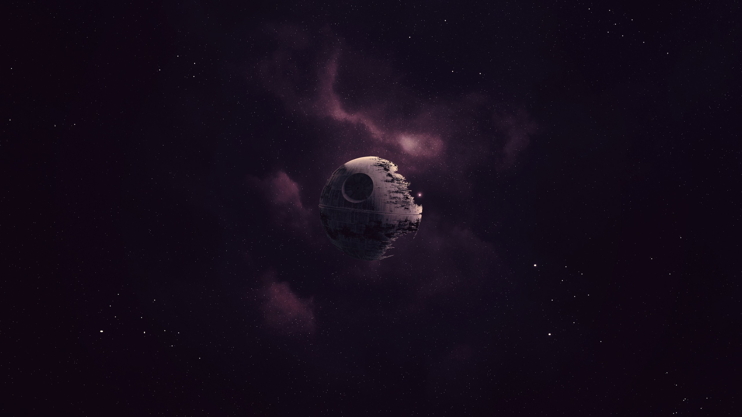 2560x1440 Star Wars, Death Star, Artwork, Space, Purple Wallpapers HD