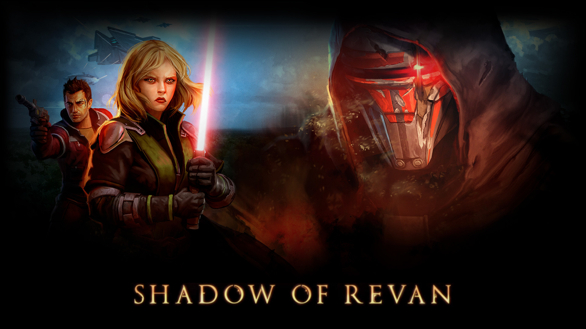 1920x1080 Shadow of Revan Wallpaper w/ Text- 1920 by 1200 | 1920 by 1080