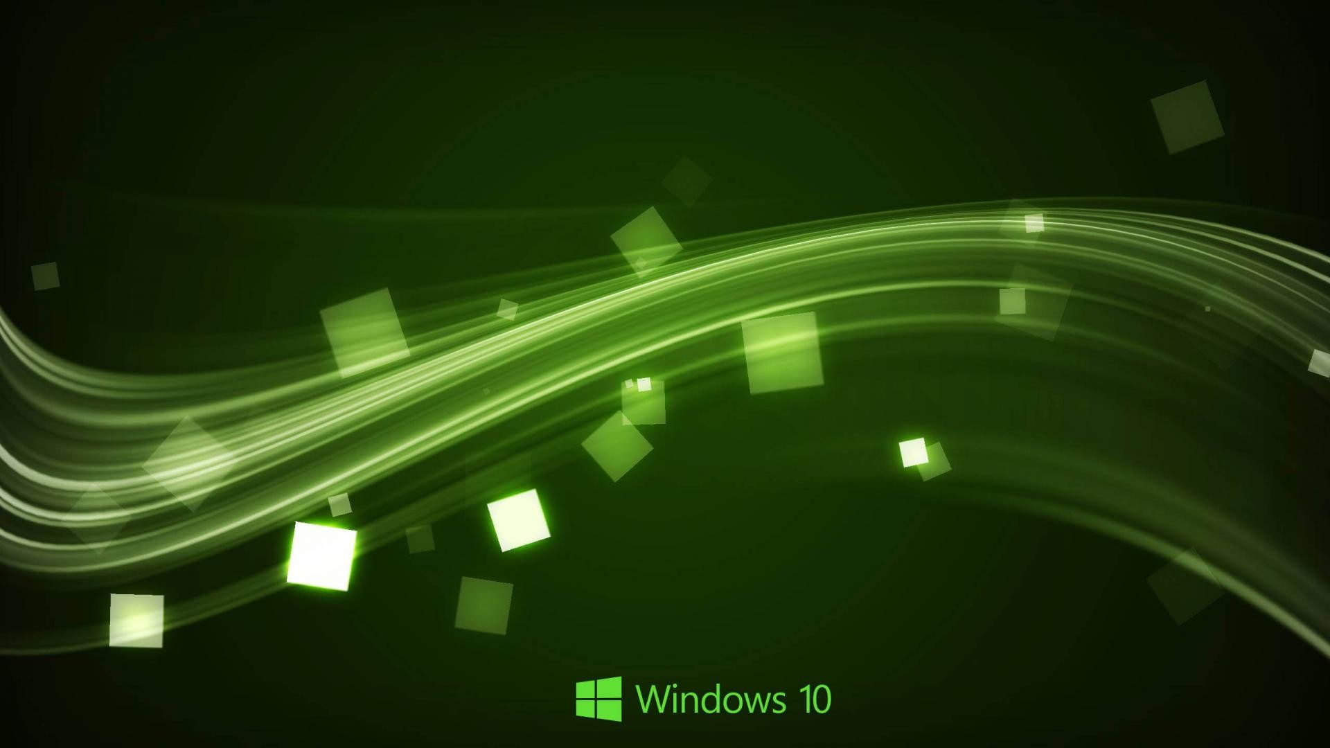 1920x1080 Windows 10 Wallpaper in Abstract Green Waves | HD Wallpapers for Free