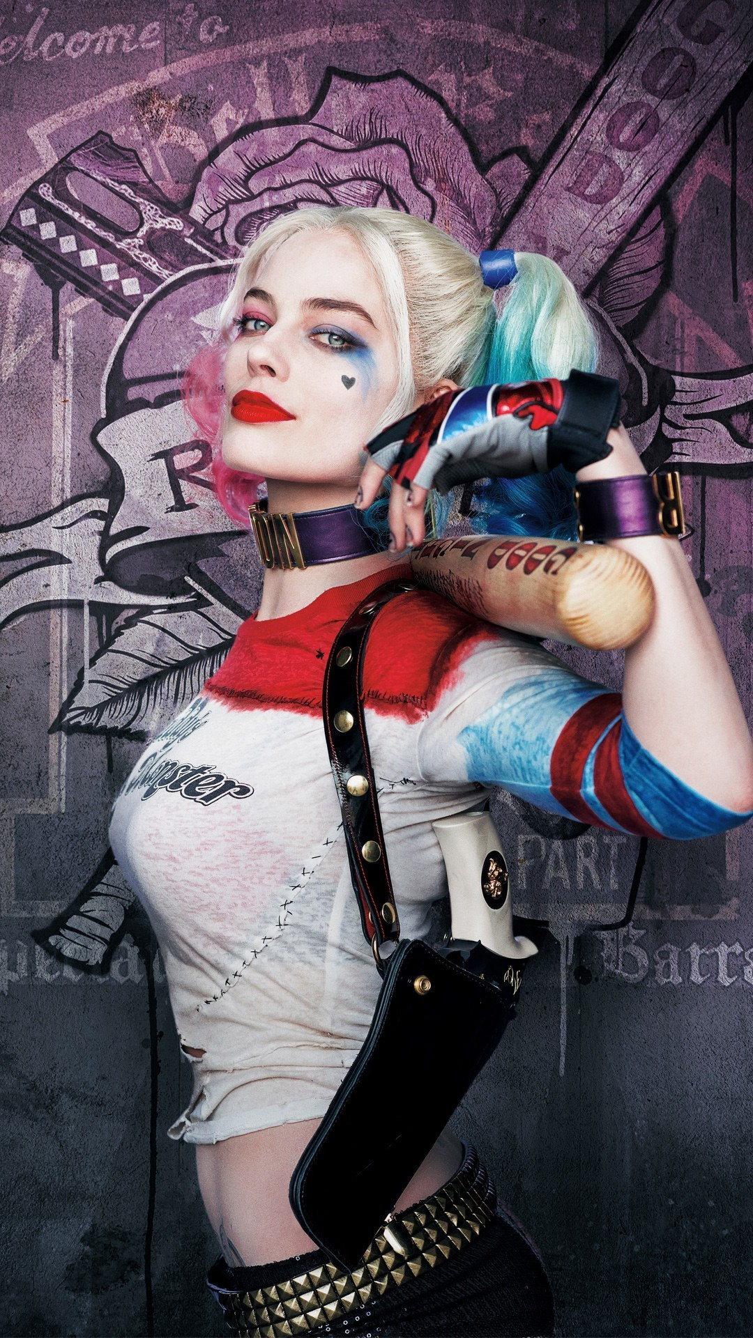 1080x1920 ... harley quinn margot robbie squad phone wallpaper by ckimble101 ...